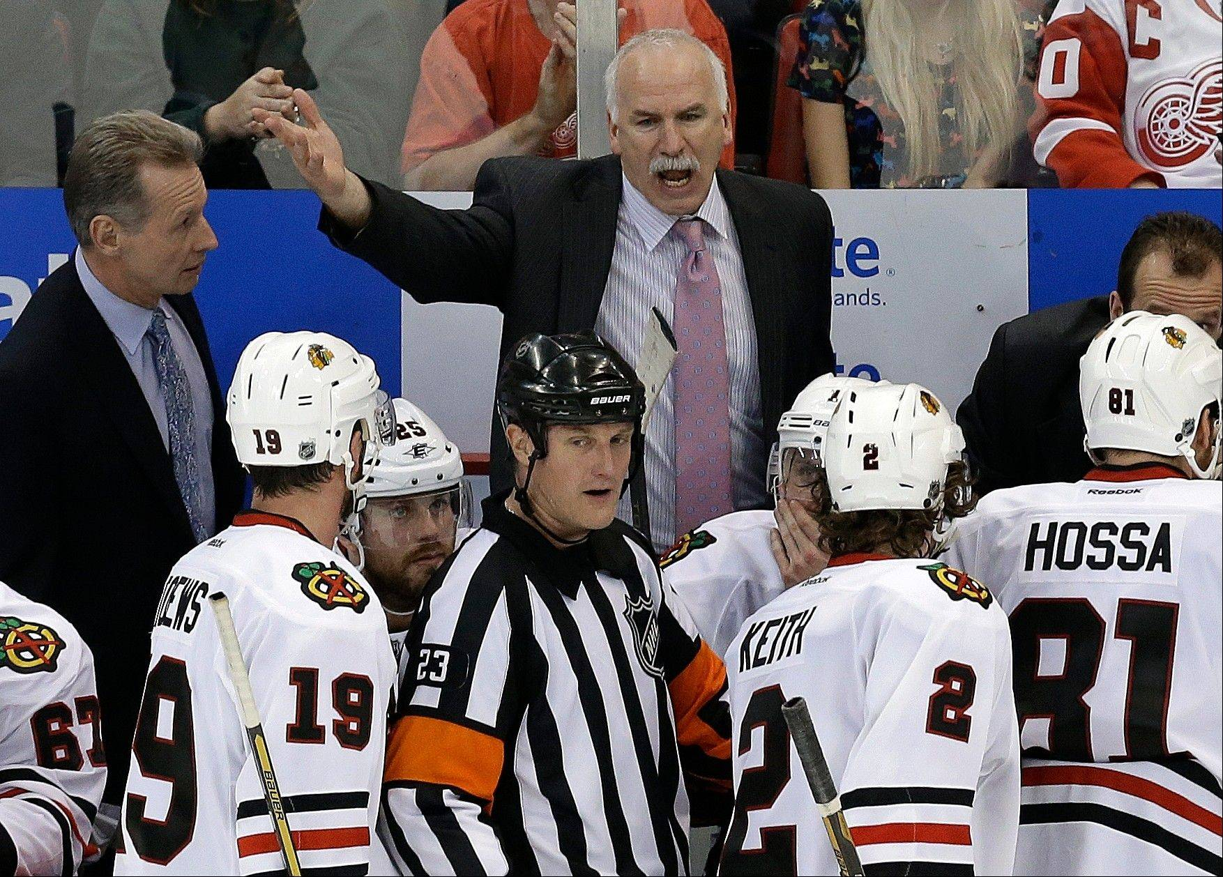 Blackhawks coach Joel Quenneville can only hope his team carries its play from Game 3 into Thursday's crucial Game 4 at Detroit.