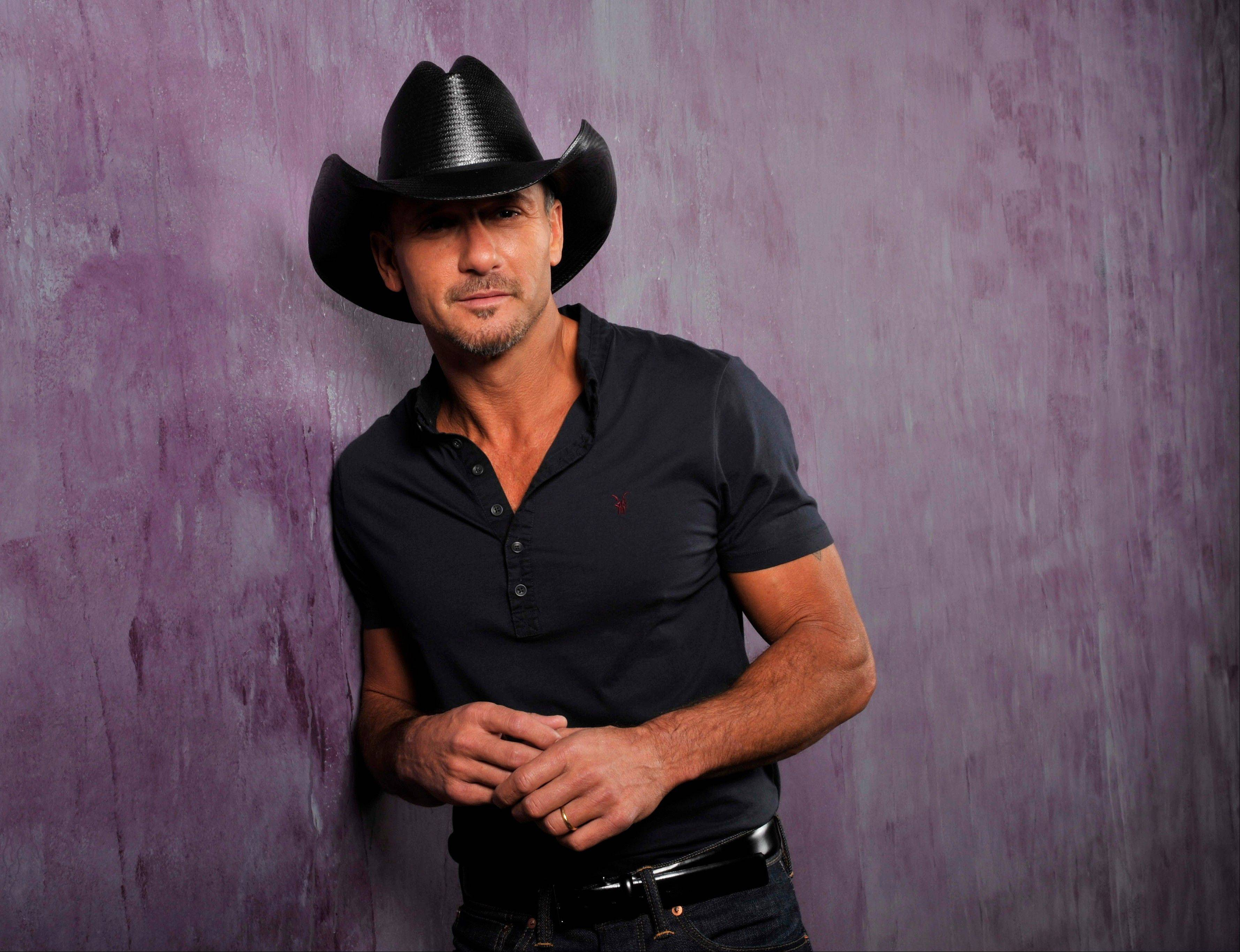 Tim McGraw performs Friday, May 24, at the First Midwest Bank Amphitheatre in Tinley Park.