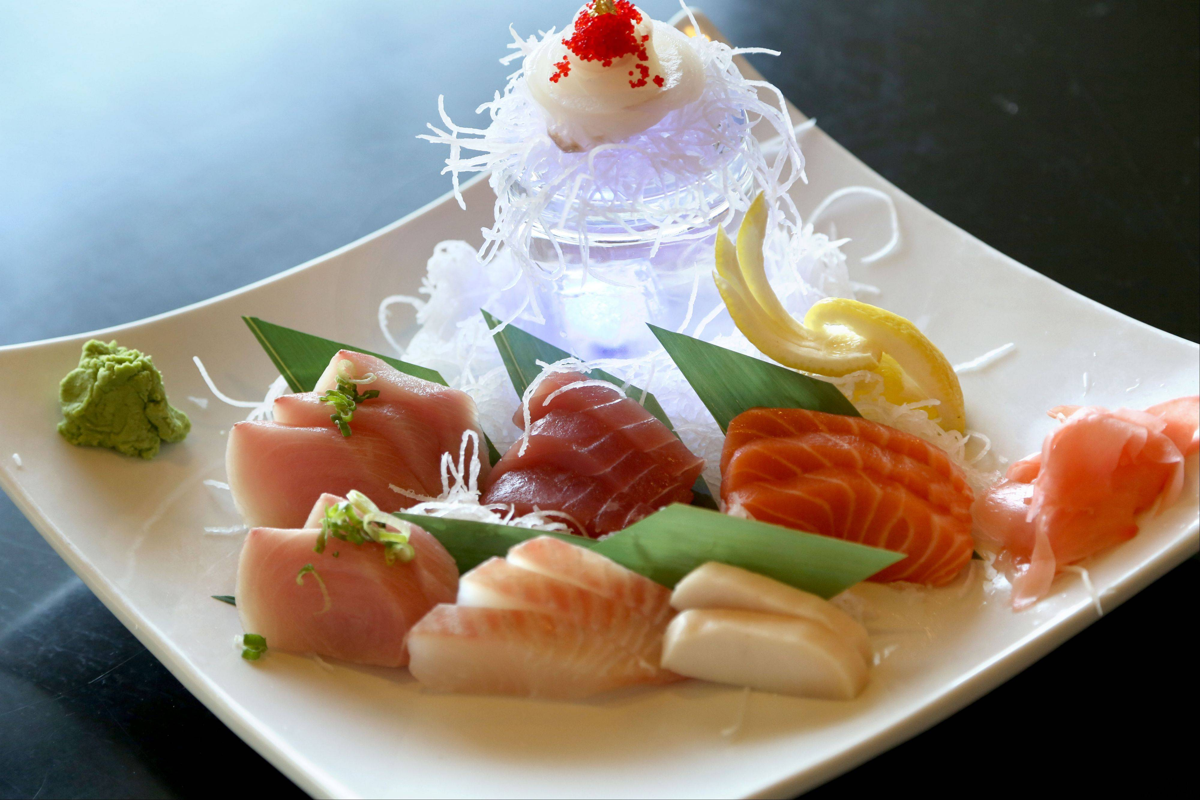 Sashimi delux is on the menu at Kawa Japanese Restaurant and Mongolian Grill in Grayslake.