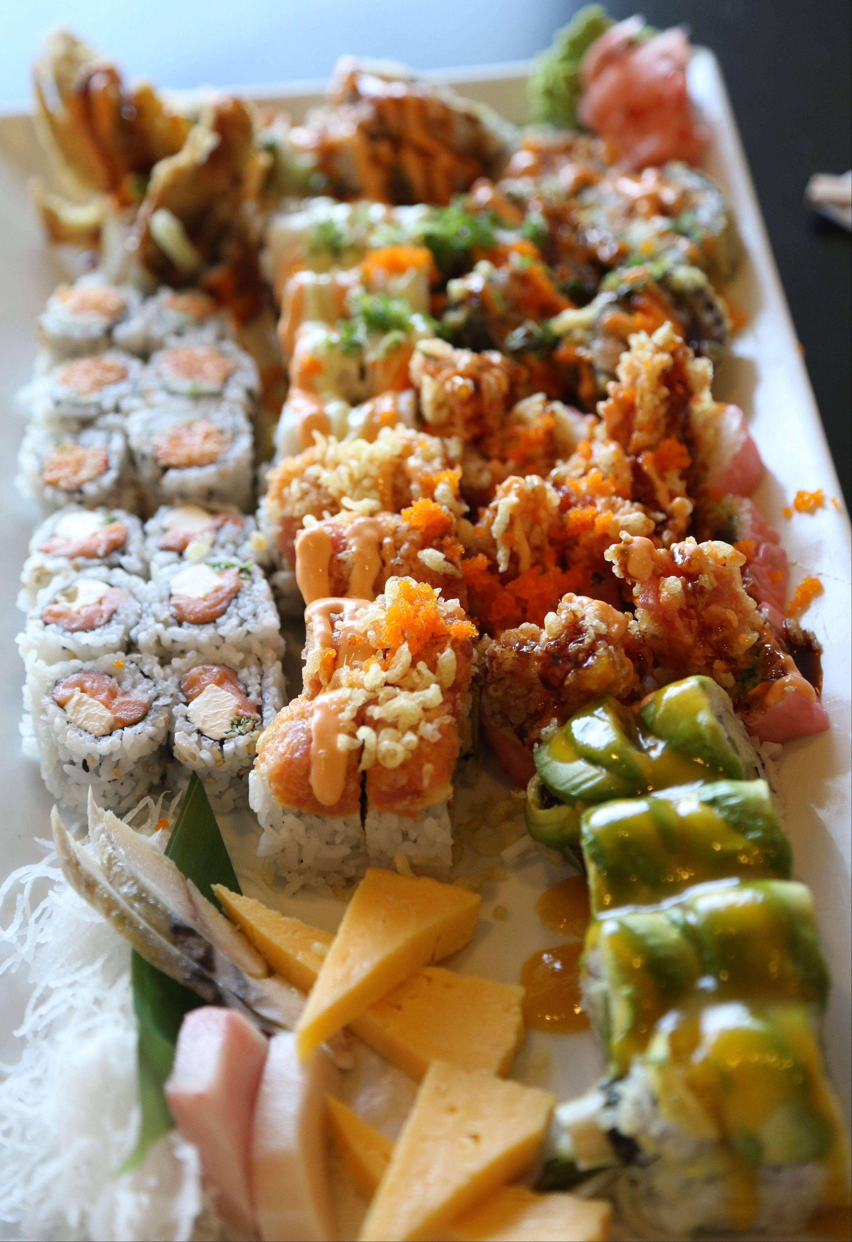 Kawa Japanese Restaurant and Mongolian Grill offers a nice array of sushi.