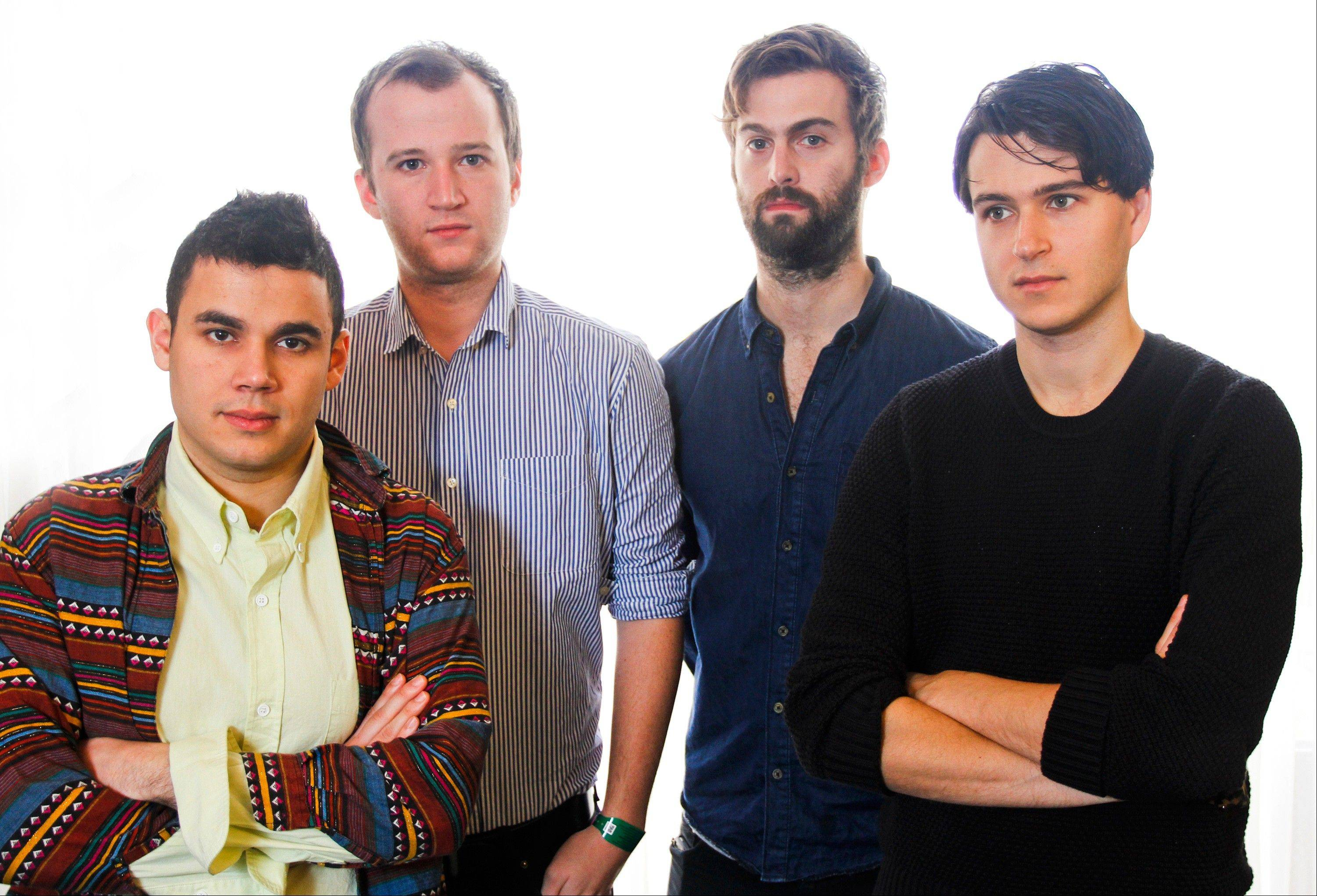 "Vampire Weekend -- Rostam Batmanglij, left, Chris Baio, Chris Thomson and Ezra Koenig -- changed the way they wrote music on their latest album, ""Modern Vampires of the City."""