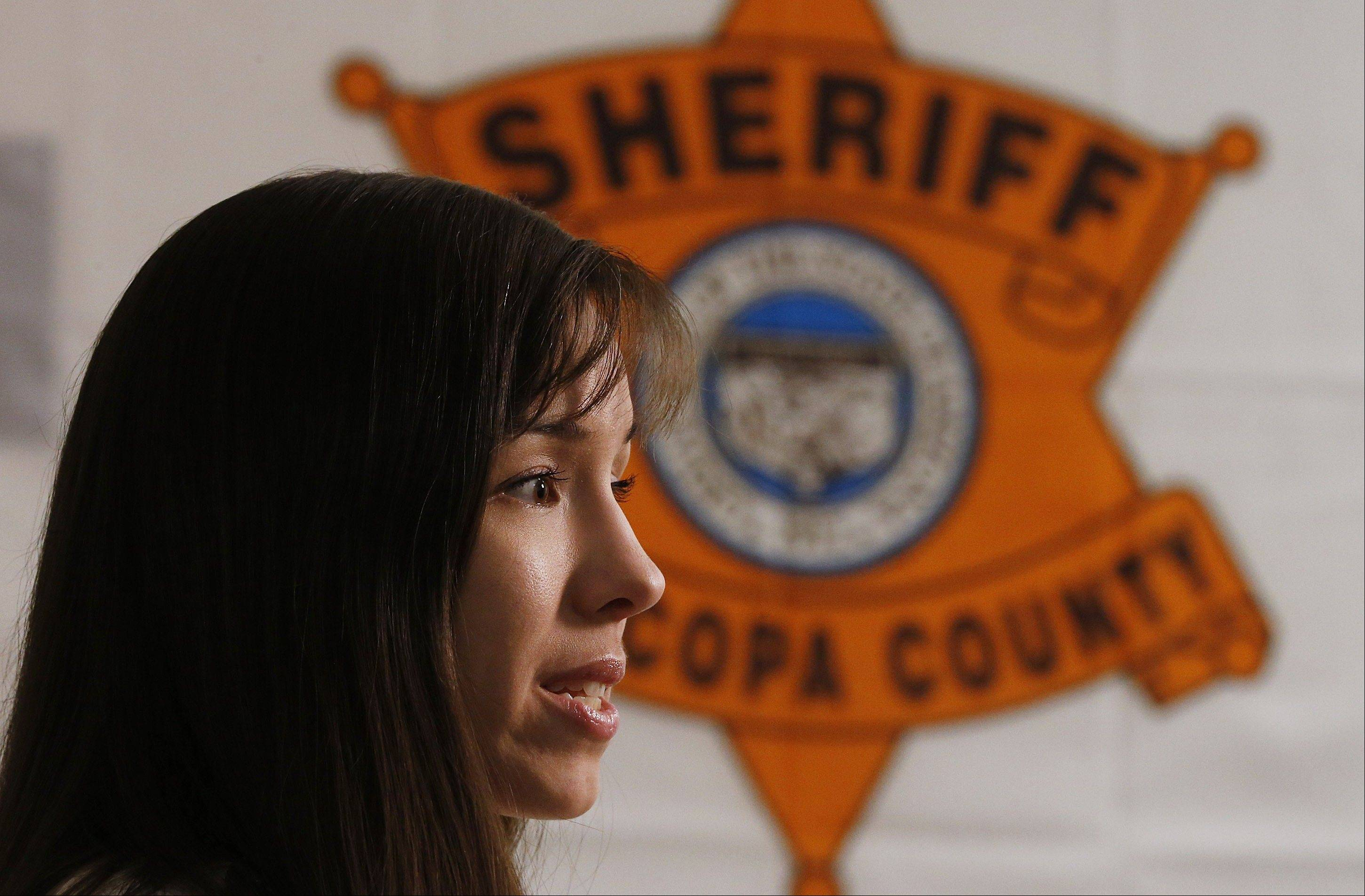 Convicted killer Jodi Arias speaks during an interview at the Maricopa County Estrella Jail on Tuesday, May 21, 2013, in Phoenix. Arias was convicted recently of killing her former boyfriend Travis Alexander in his suburban Phoenix home back in 2008, made a plea in court on Tuesday for life in prison, instead of execution, saying she can contribute to society if allowed to live.