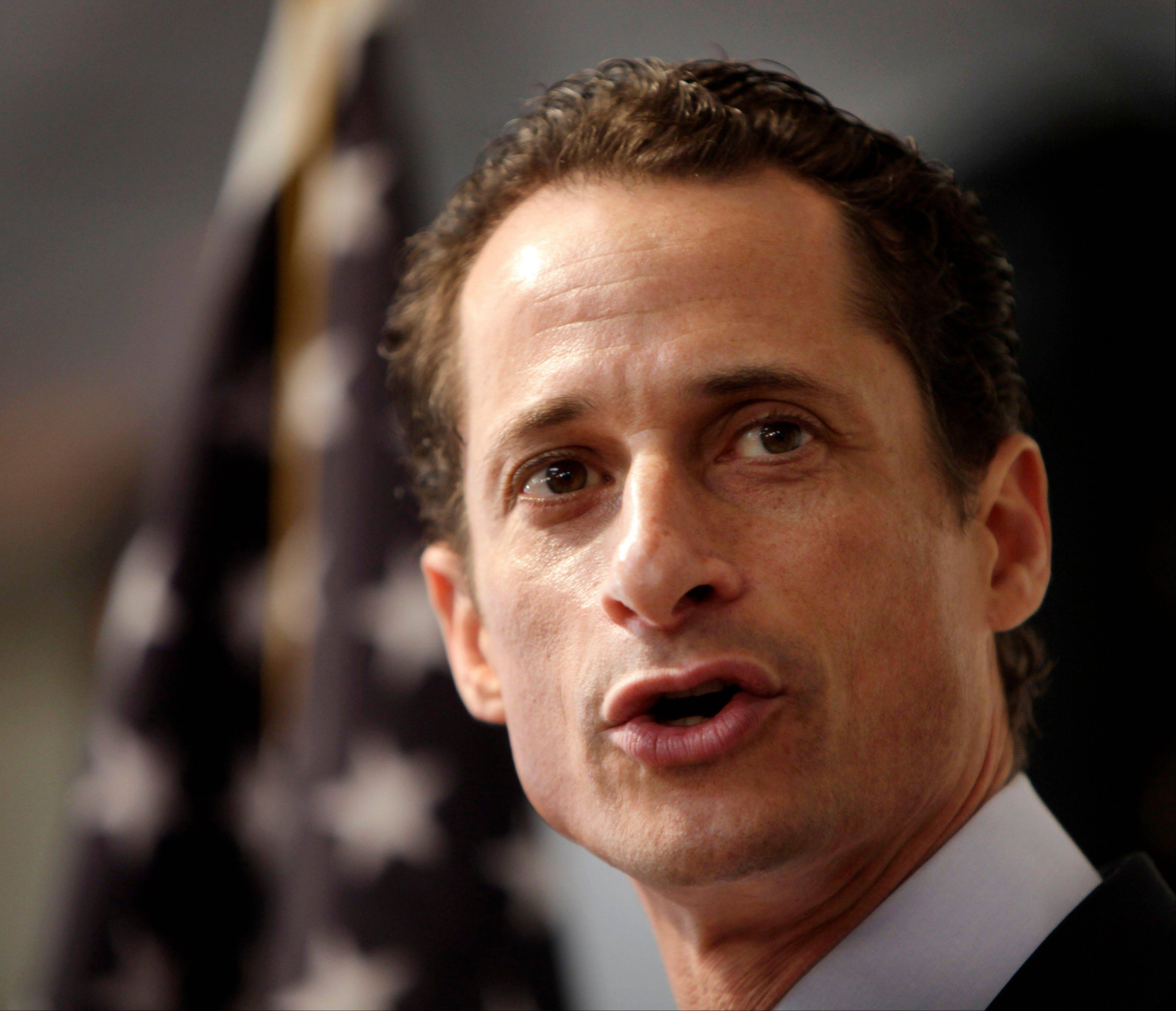 Anthony Weiner, the Democratic ex-congressman who resigned over raunchy tweets said late Tuesday, May 21, 2013, that he's in the New York City mayoral race.
