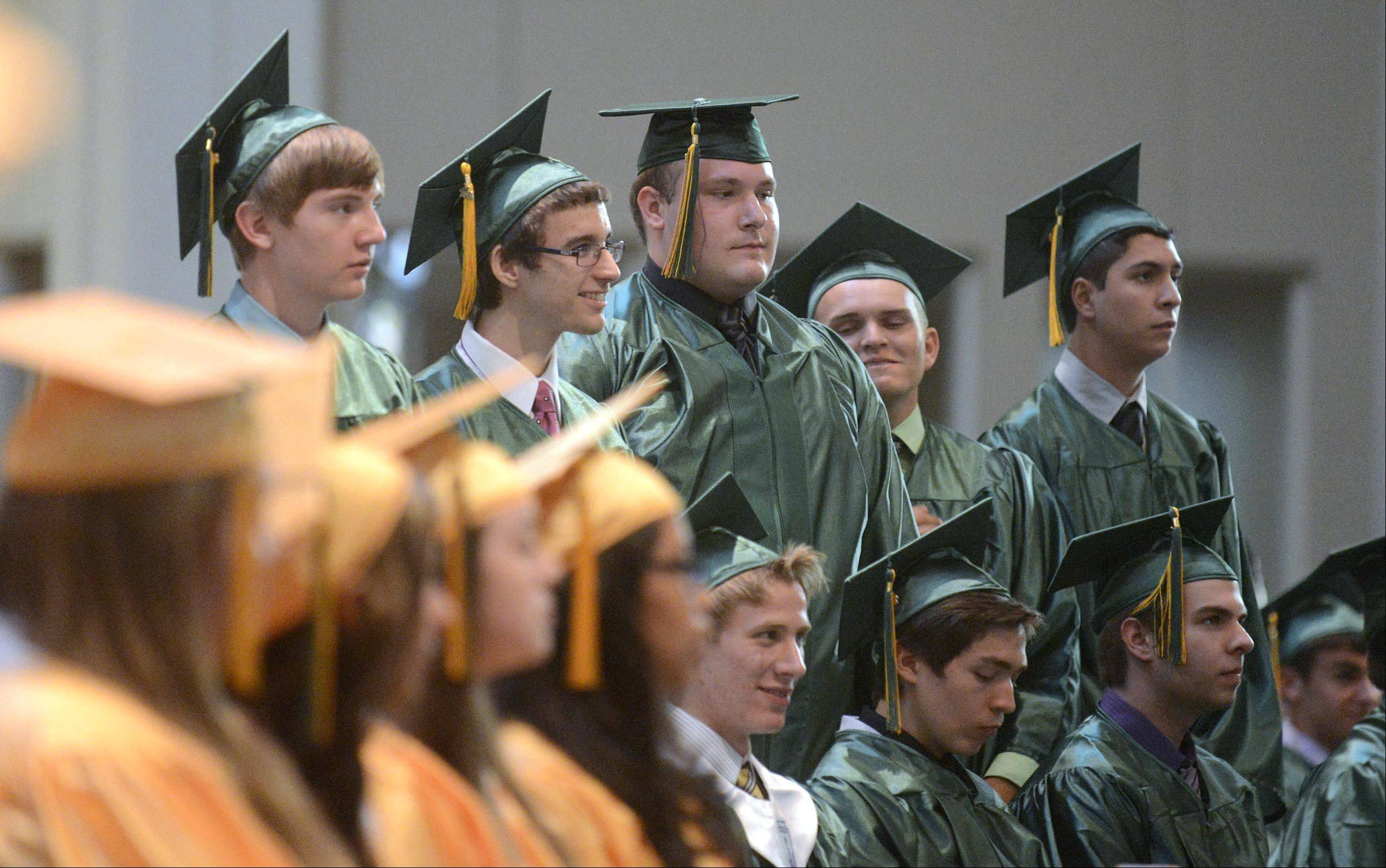 Images from the St. Edward High School graduation ceremony Tuesday, May 21, 2013 in St. Charles.