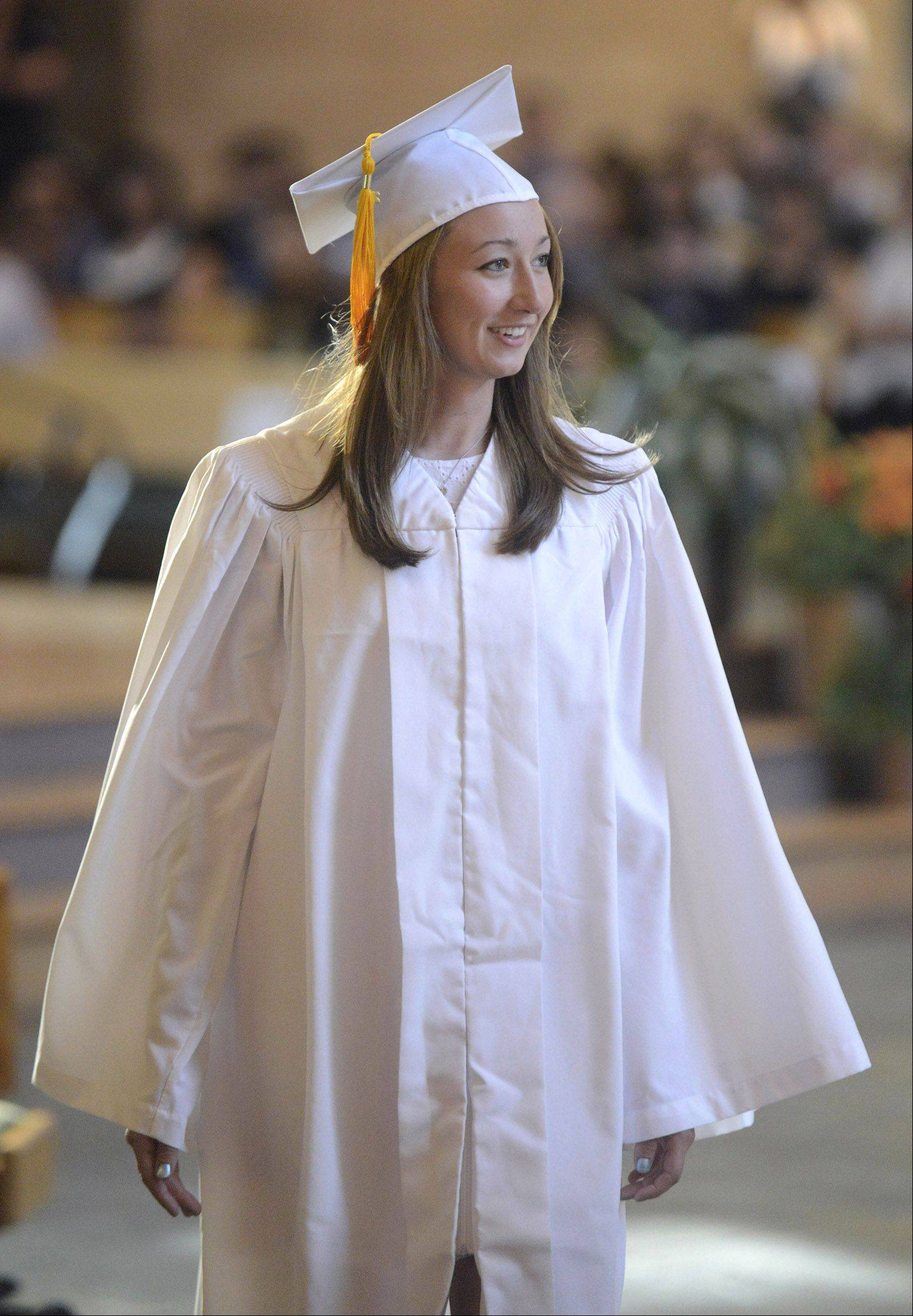 Images from the Rosary High School graduation ceremony Tuesday, May 21, 2013 in St. Charles.
