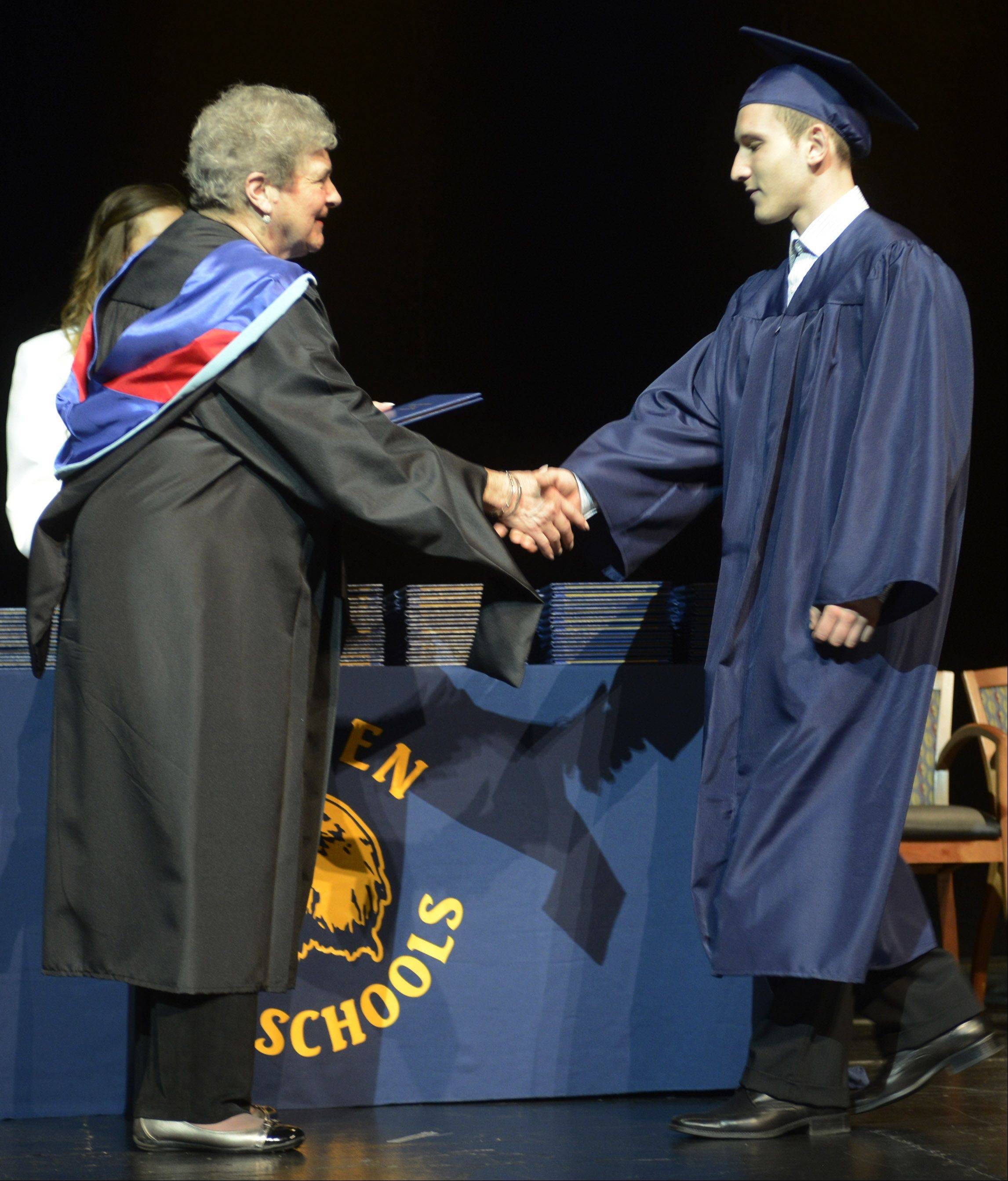 Images from the East Leyden High School graduation on Tuesday, May 21, at the Rosemont Theatre.