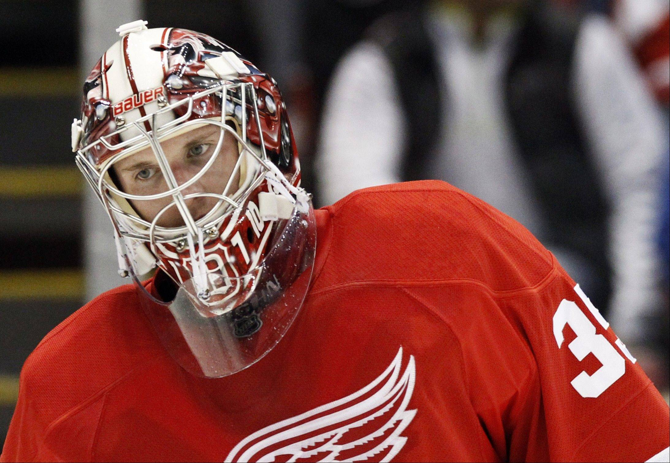 After losing Game 1, Detroit Red Wings goalie Jimmy Howard has managed to keep the high-scoring Blackhawks attack under wraps. Detroit has a 2-1 series lead heading into Game 4 Thursday night.
