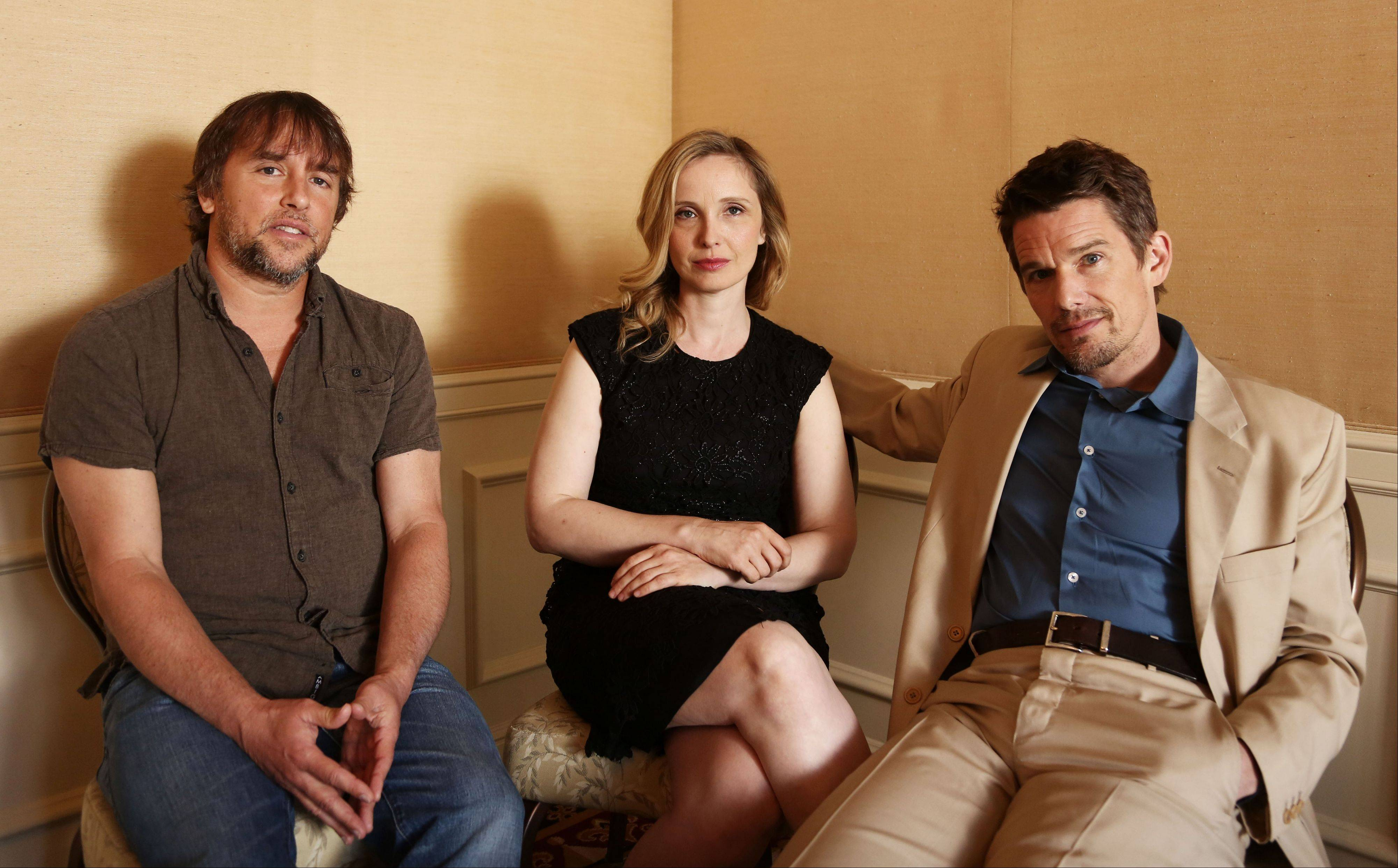 "Director and writer Richard Linklater, actress and writer Julie Delpy and actor and writer Ethan Hawke discuss the third film in the drama series of walking, talking European romances, ""Before Midnight."""