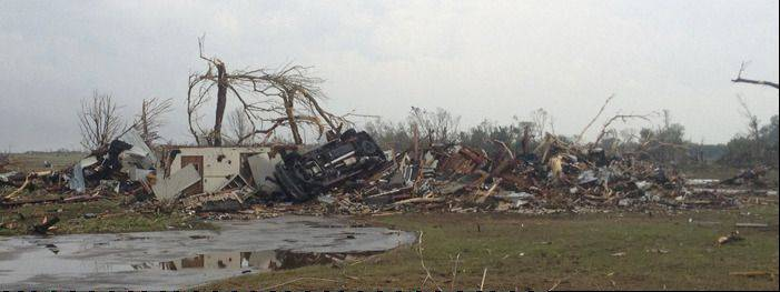 COURTESY OF TALBOT COXThe destroyed home at center is where Schaumburg trustee Frank Kozak and his wife Char were rescued in the aftermath of the Moore, Oklahoma EF5 tornado.