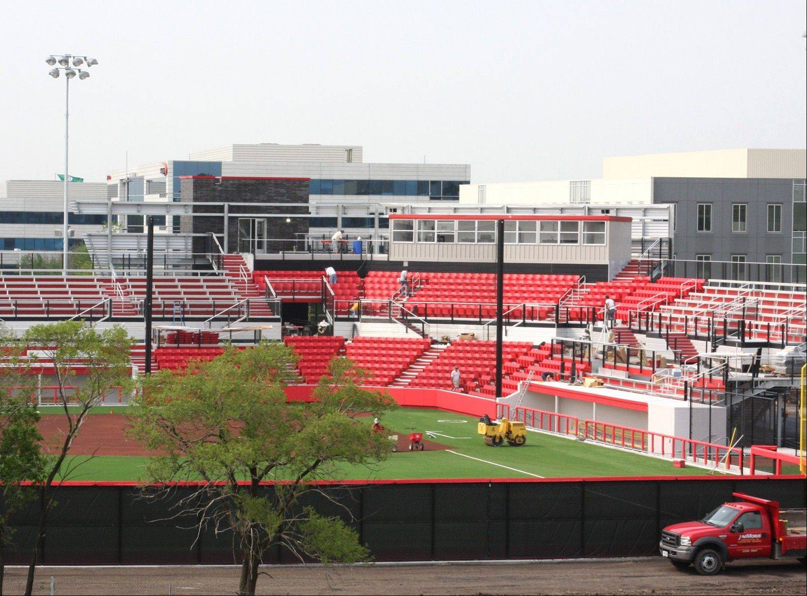Photo courtesy of Mack Communications � The Chicago Bandits professional women's softball team will play an exhibition game Saturday to inaugurate the team's new home at Rosemont Stadium.
