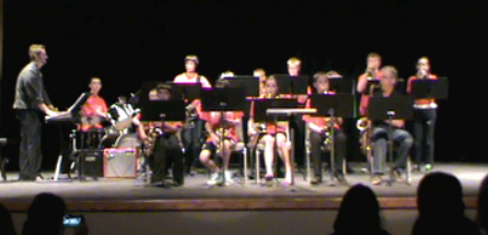 The North Suburban Youth Jazz Ensemble performing on May 20th, 2013