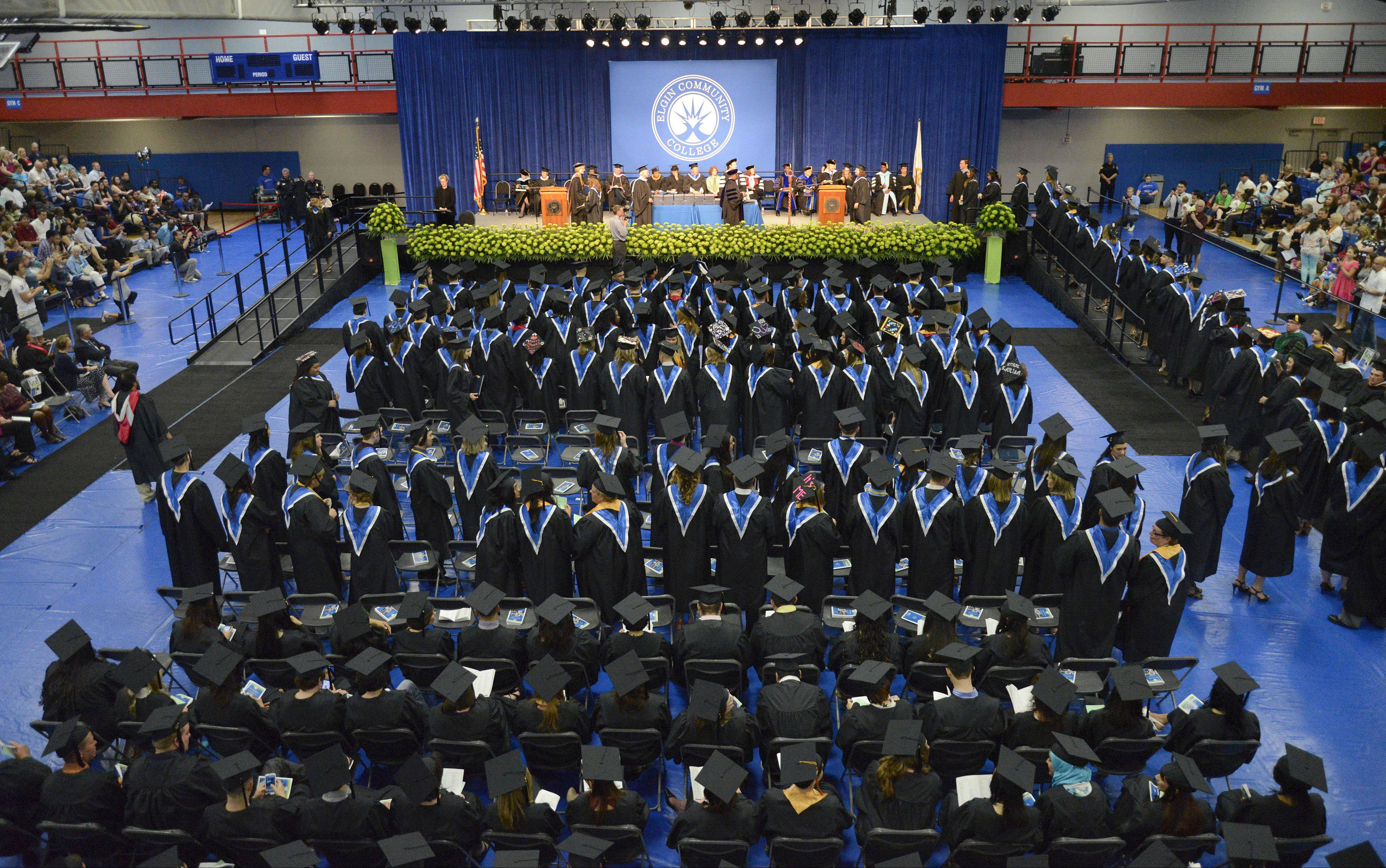 About 225 graduates received their diplomas at Elgin Community College's commencement ceremony on May 18.
