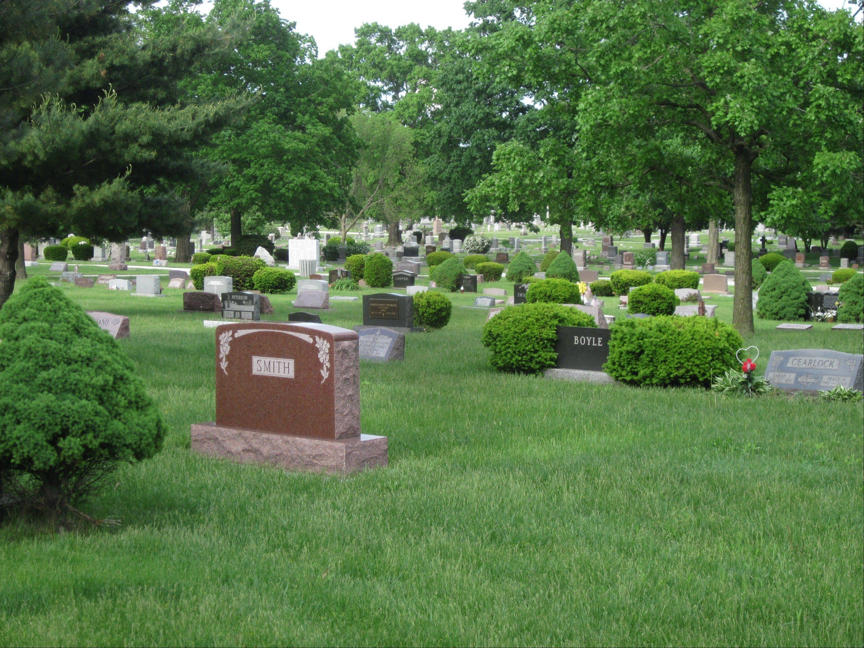 The city of Batavia takes great pride in the upkeep of its two cemeteries, Mayor Jeff Schielke says. West Batavia Cemetery, above, is on Batavia Avenue. East Batavia Cemetery on Washington Street.