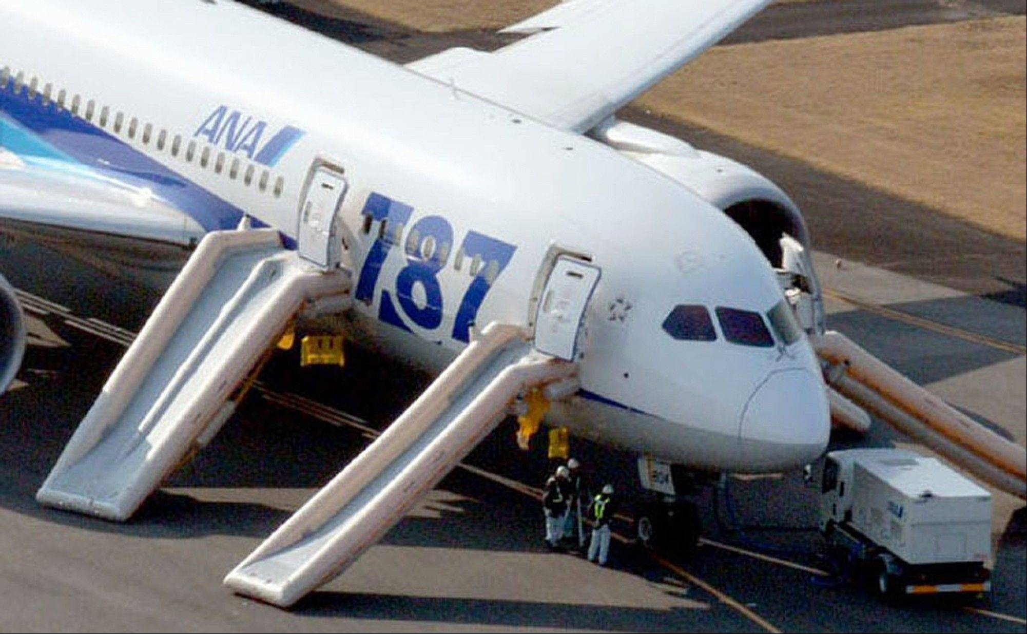 An All Nippon Airways flight sits at Takamatsu airport in Takamatsu, western Japan,