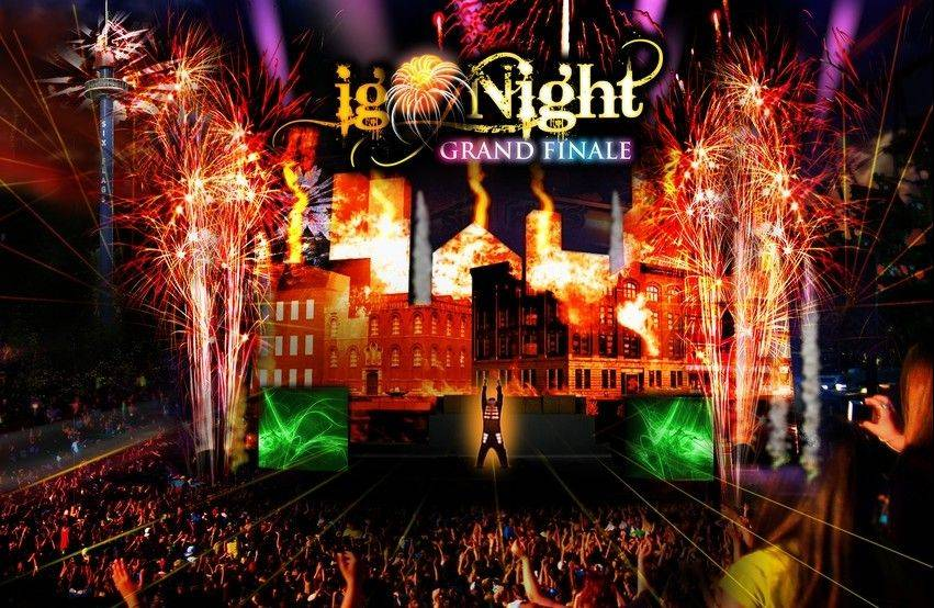 "In June, Six Flags Great America in Gurnee debuts ""igNIGHT -- Grand Finale,"" a high-tech night show with singing, dancing, pyrotechnics and video projection."