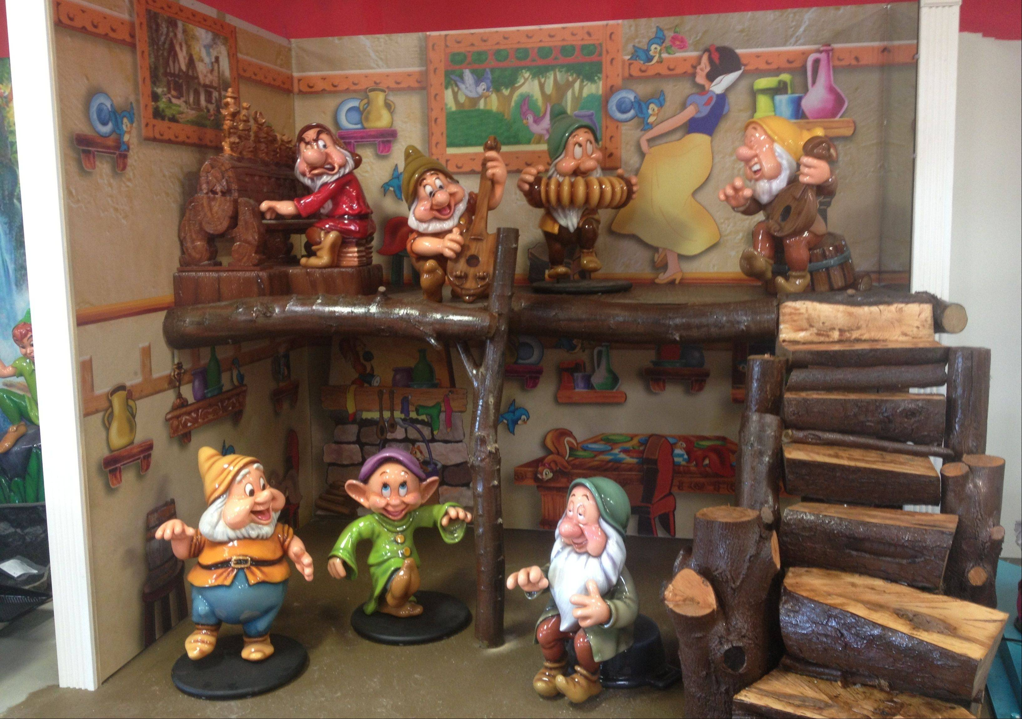 "Disney fans will find lots of familiar favorites, including the Seven Dwarfs, when they visit Volo Auto Museum's new kid-themed, 10,000-square-foot showroom, ""Cars in Wonderland."" It opens Saturday, May 25."