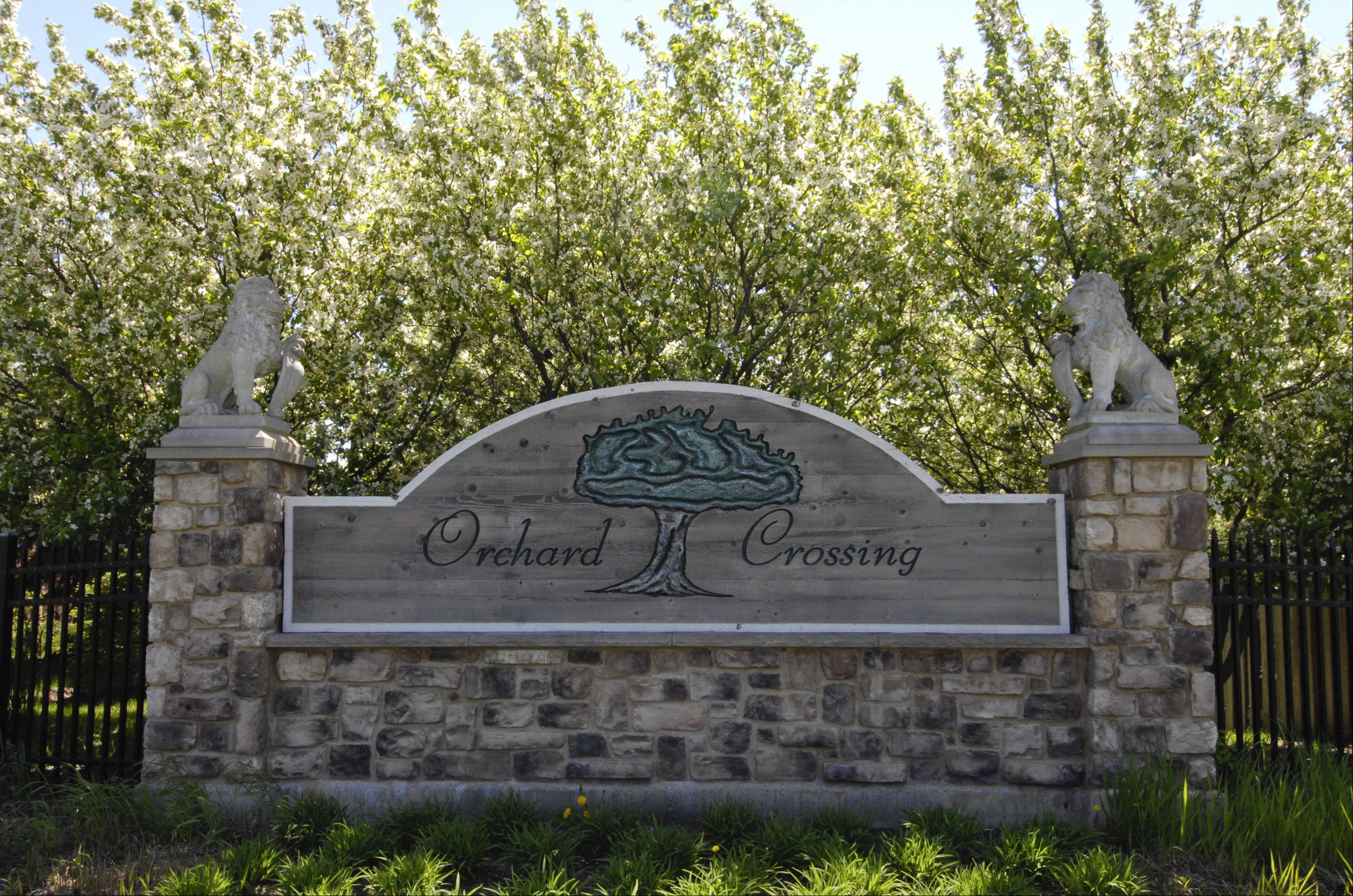 Many of the houses in Orchard Crossing were built in the late 1990s, a period of rapid growth in North Aurora.