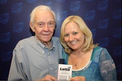 DuPage County friends Conrad Rask and Carol Davis won a $7.4 million Lotto jackpot in the April 29 drawing.