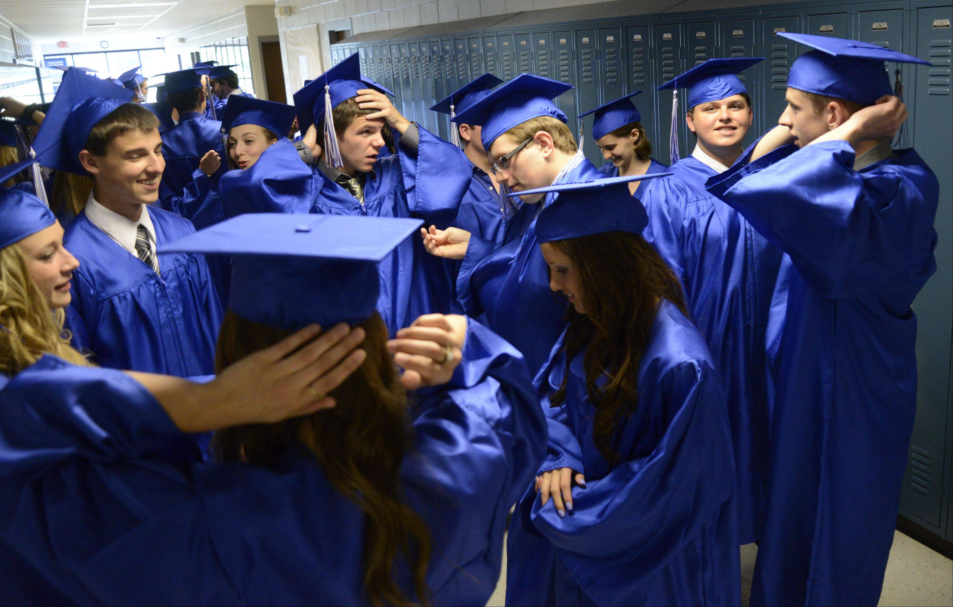 Images from the Westminster Christian High School graduation ceremony Friday, May 24, 2013 in Elgin.