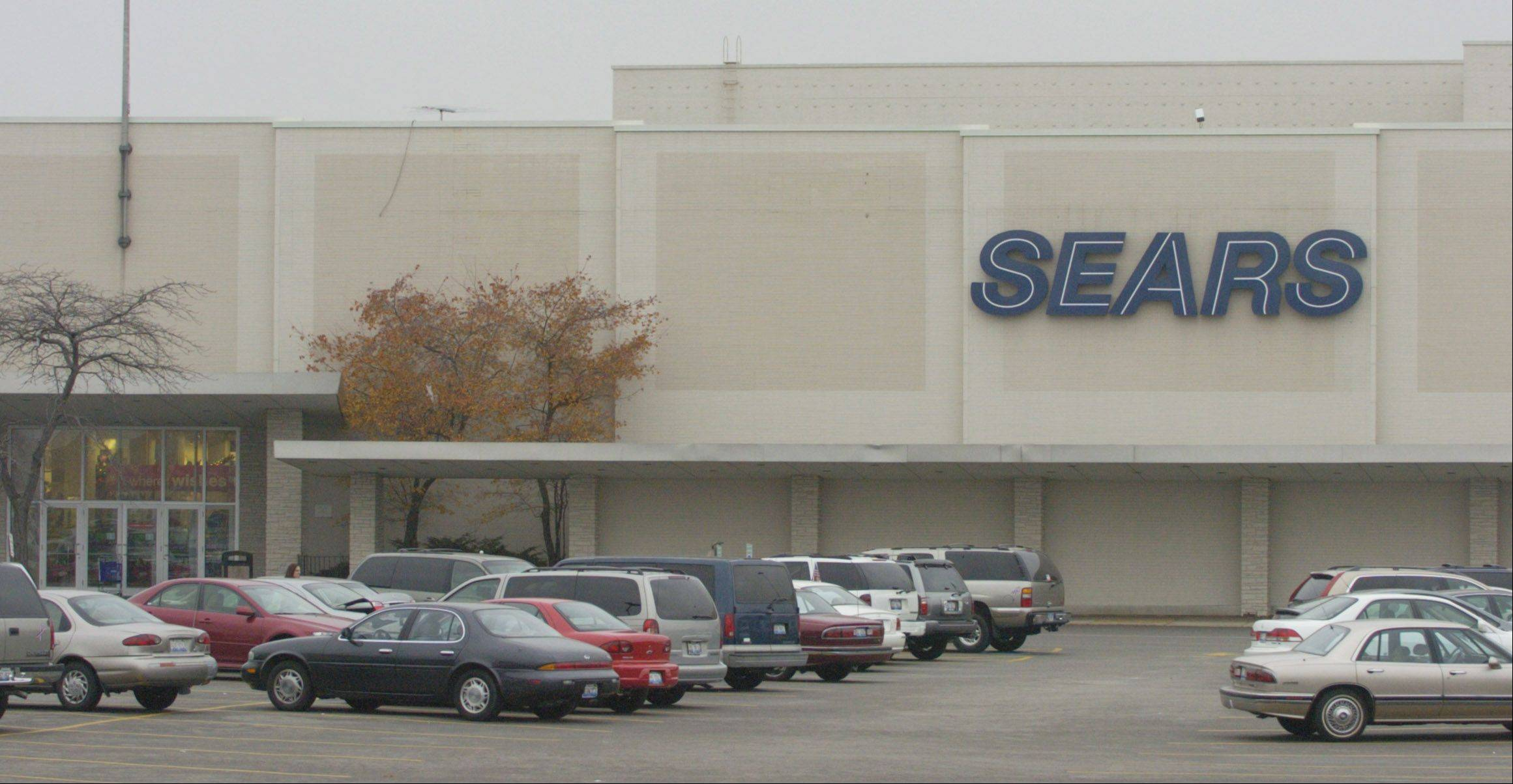 Exterior of Sears Golf Mill store, Niles.
