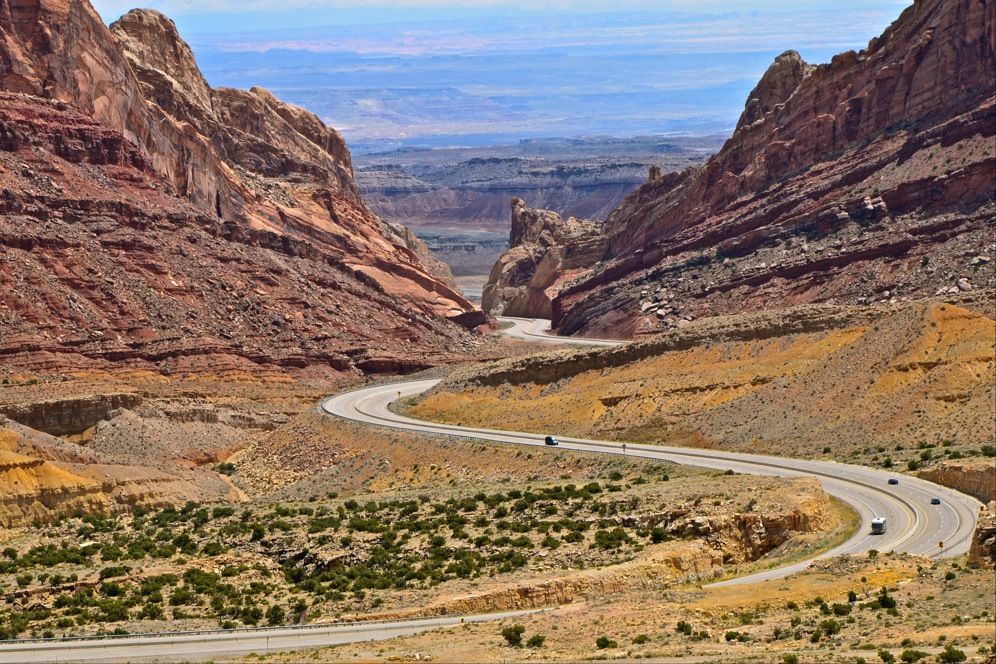 Most people who have driven through the San Rafael reef on I-70 in central Utah have seen this view and probably taken this picture. I couldn't resist taking my own.