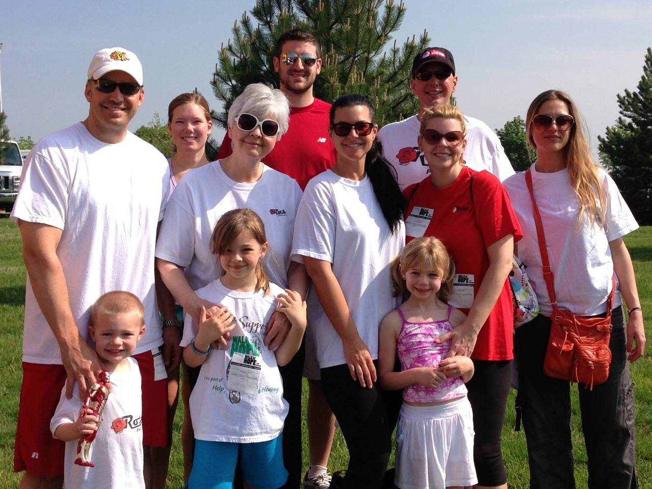 "Photo courtesy of Rose Pallet ""Team Rose Pallet,"" consisting of Rose Pallet staff members and their families. were part of the Annual Walk of Hope organized by The Cancer Support Center."