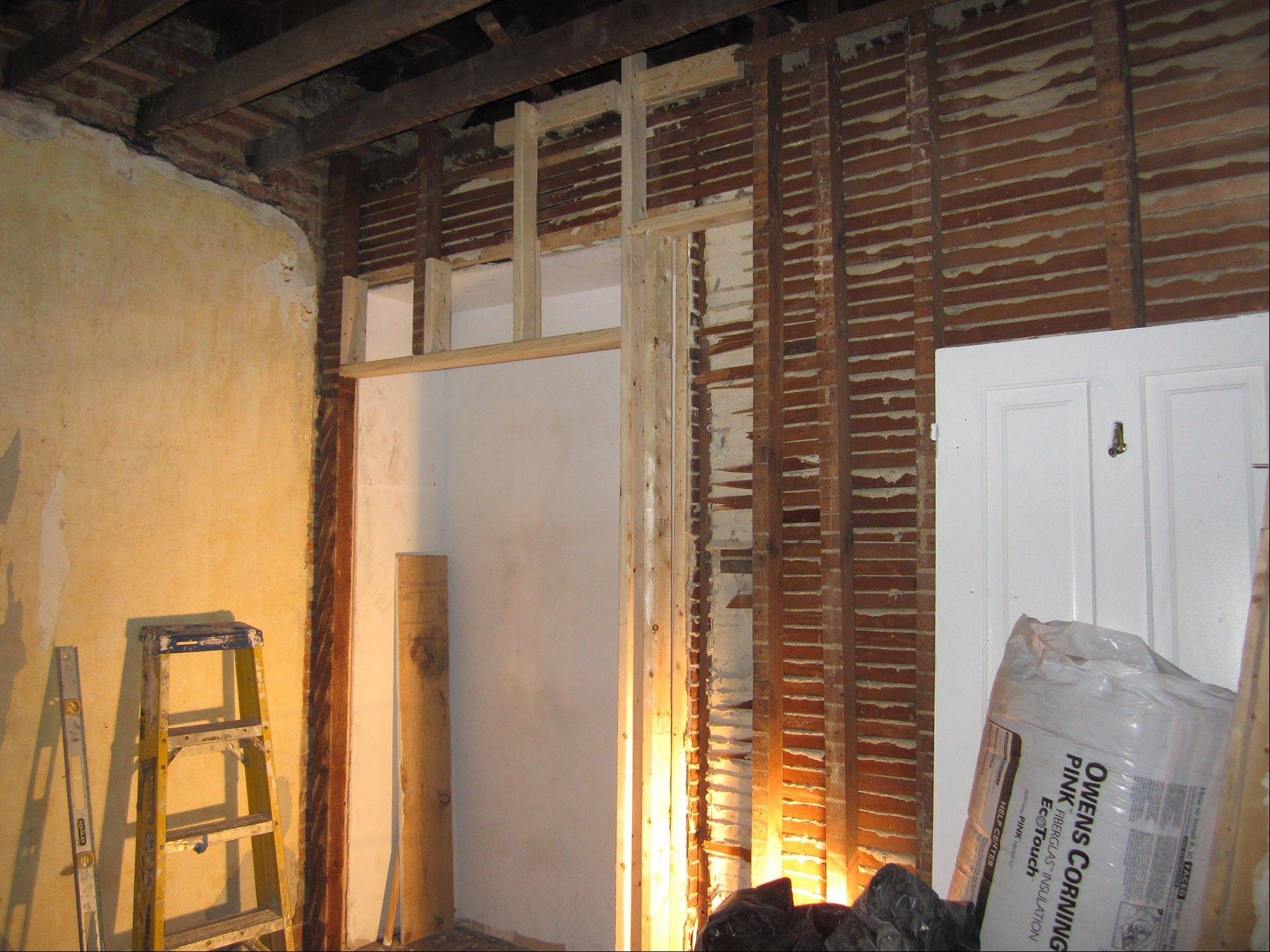 Luke Armerding did the demolition and much of the remodeling of two rooms in the townhouse he shares with his wife Juliet.