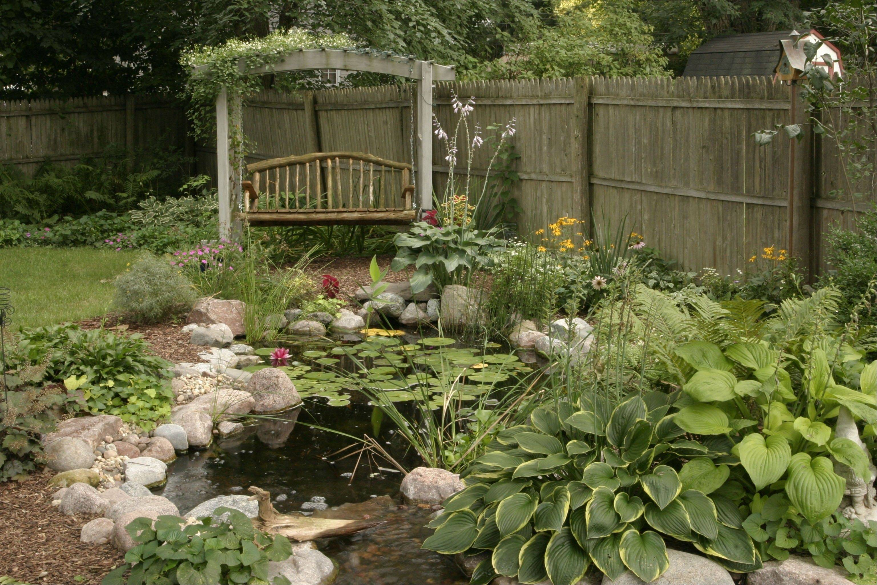 Having a water feature in your yard helps your children connect with nature.