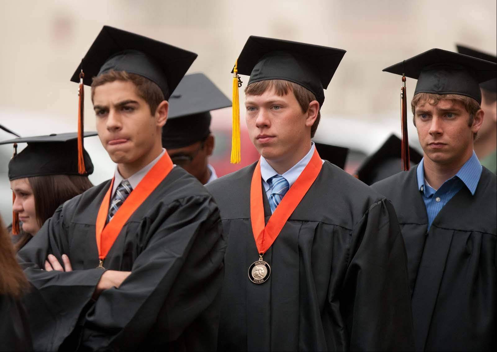 Images from the Wheaton Warrenville South High School graduation on Saturday, May 25 at North Central College in Naperville.