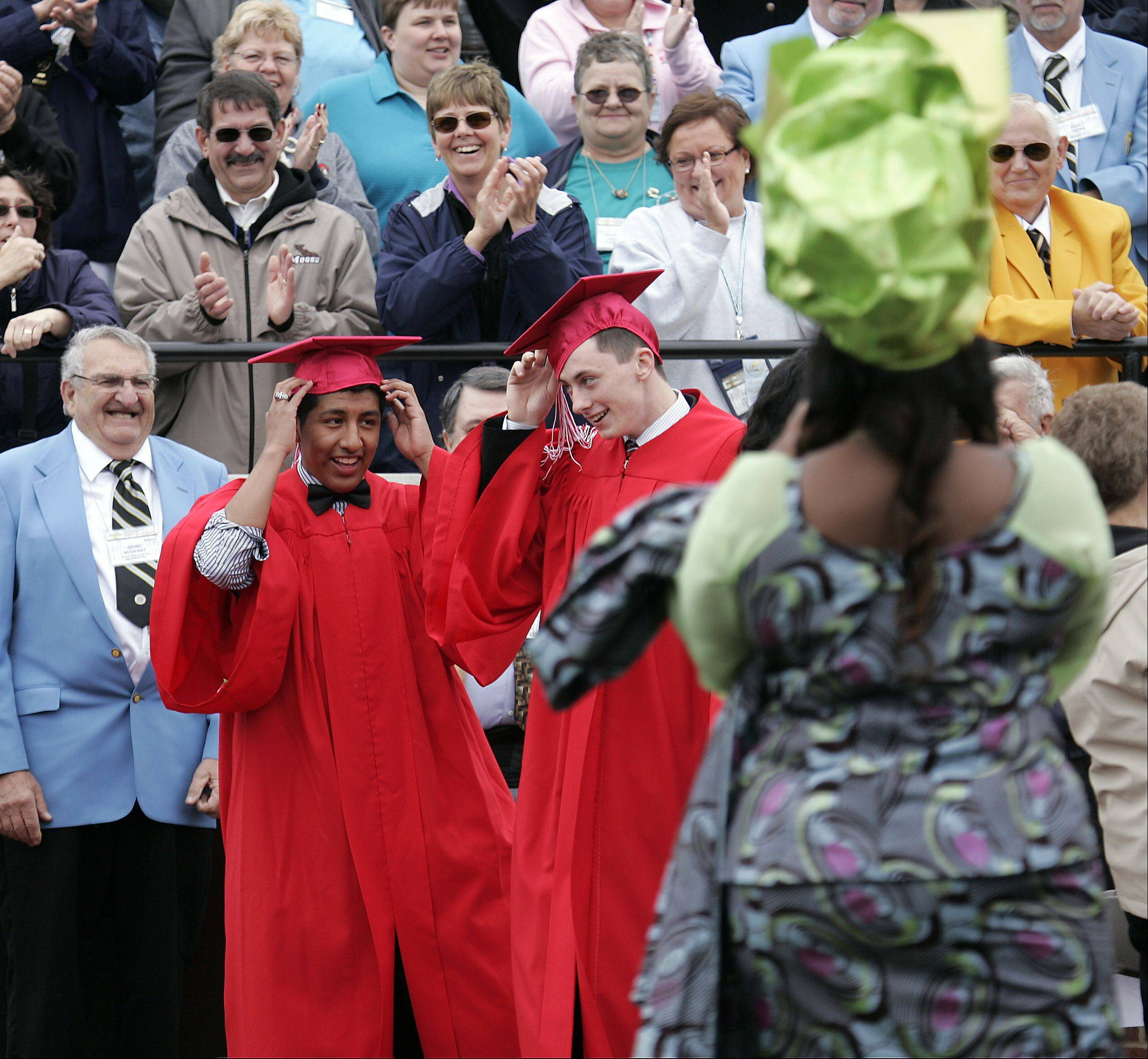 Images from the Mooseheart commencement ceremony Saturday, May 25, 2013 on the Mooseheart campus.