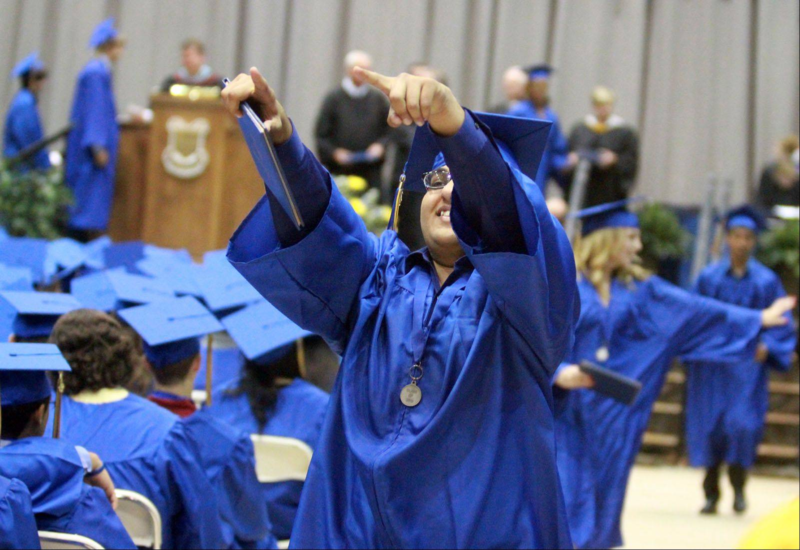 Images from the Warren Township High school graduation on Saturday, May 25 at the Welsh-Ryan Arena in Evanston.