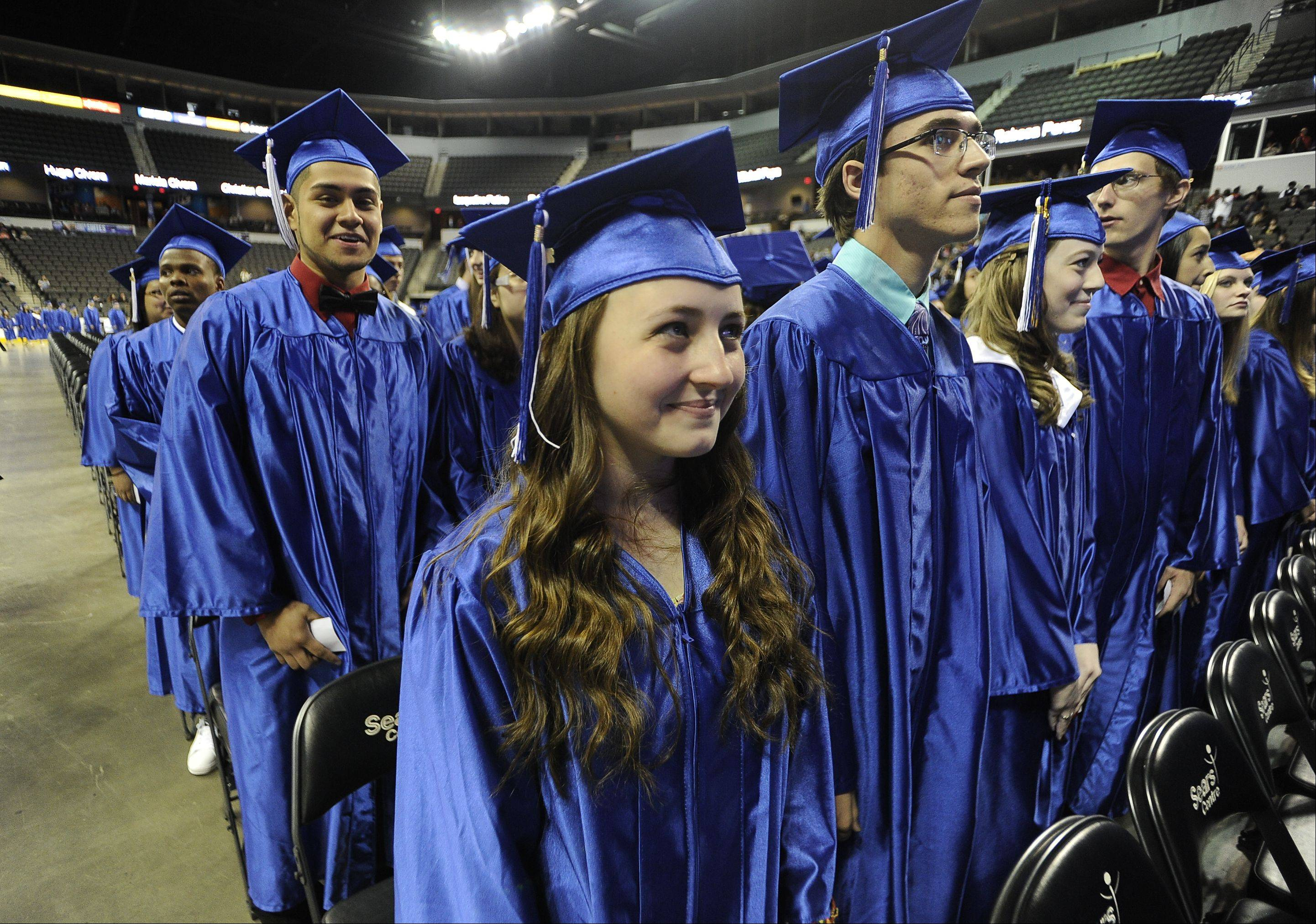 Images from the Larkin High School commencement ceremony Saturday, May 25, 2013 at the Sears Centre in Hoffman Estates.