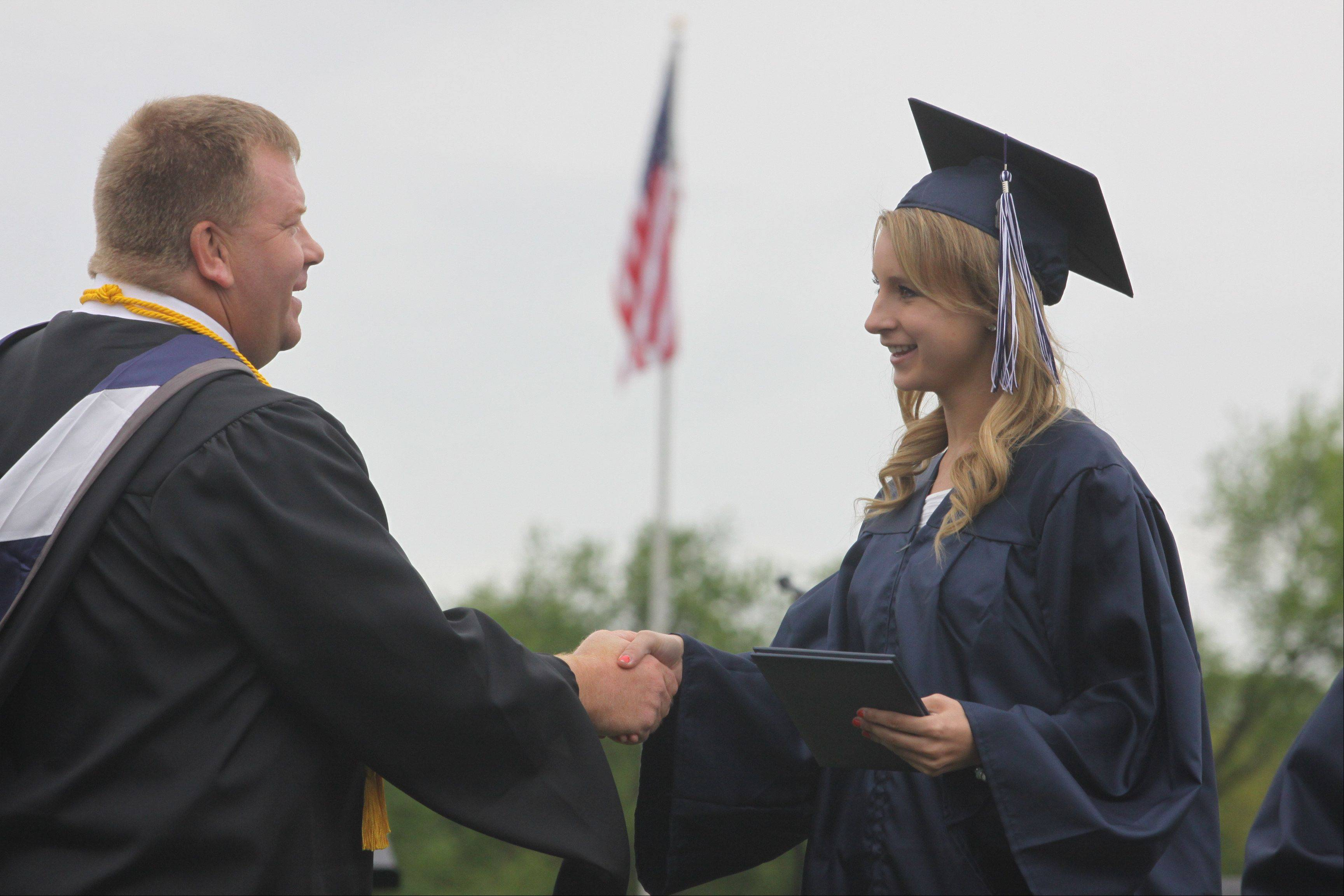 Images from the Cary-Grove High School commencement ceremony at Al Bohrer Athletic Field Saturday, May 25, 2013 in Cary.