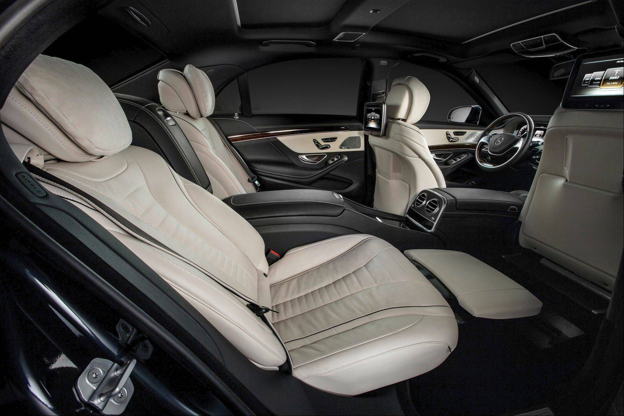 The interior of the new Mercedes-Benz S-Class S400 automobile: Daimler CEO Dieter Zetsche had his designers create a back seat that reclines to an industry-leading 43.5-degree angle. Such amenities are critical to reviving the Mercedes brand among well-heeled Chinese, who account for more than half of all worldwide sales of the S-Class.