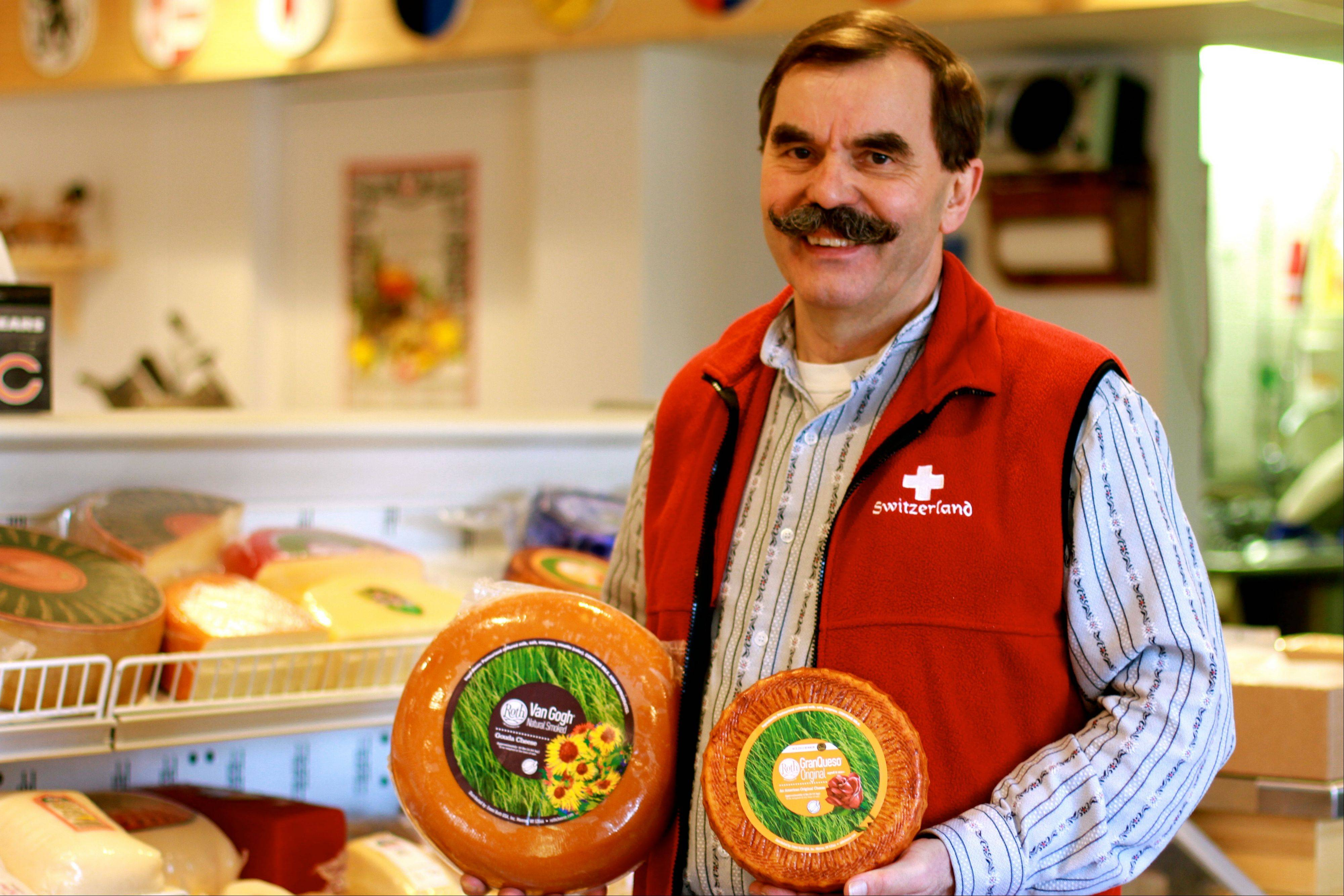 Owner Tony Zgraggen at the Alp and Dell artisanal cheese store in Monroe, Wis. The store is one of the few places in the area where Limburger cheese, famous for its smell, can be bought.