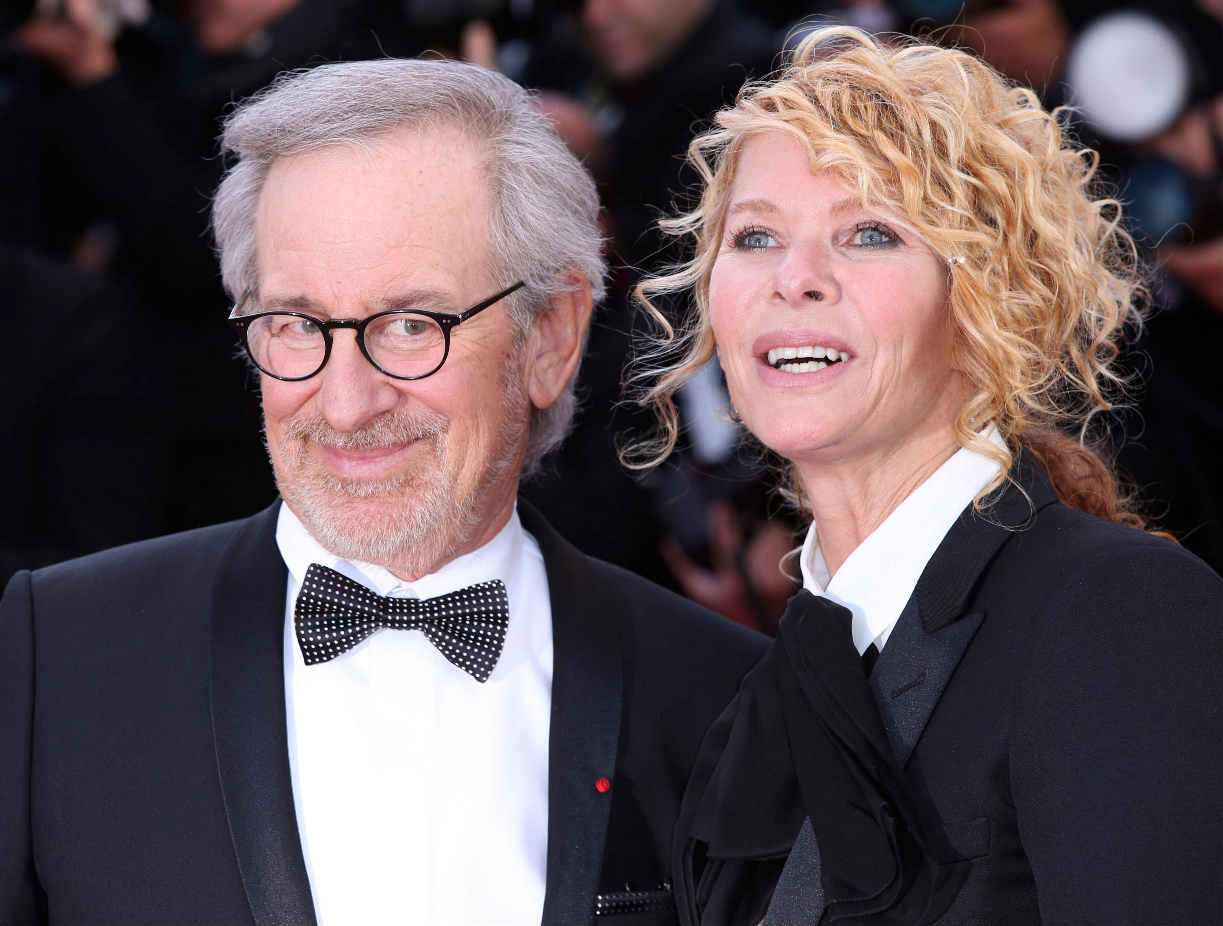 Director Steven Spielberg and Kate Capshaw arrive on the red carpet for the screening of Venus in Fur at the 66th international film festival, in Cannes, southern France, Saturday, May 25, 2013. Spielberg was head of the jury which awarded prizes at the film festival.