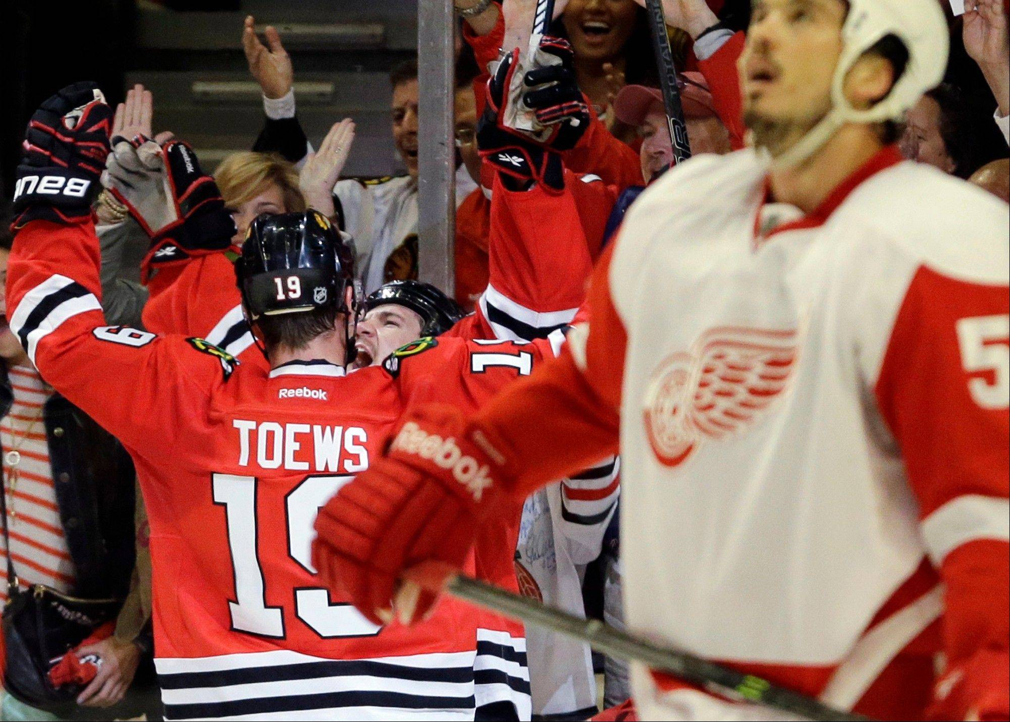 The Blackhawks hope to be doing more celebrating in Monday night�s Game 6 at Detroit, while continuing to frustrate the Red Wings.