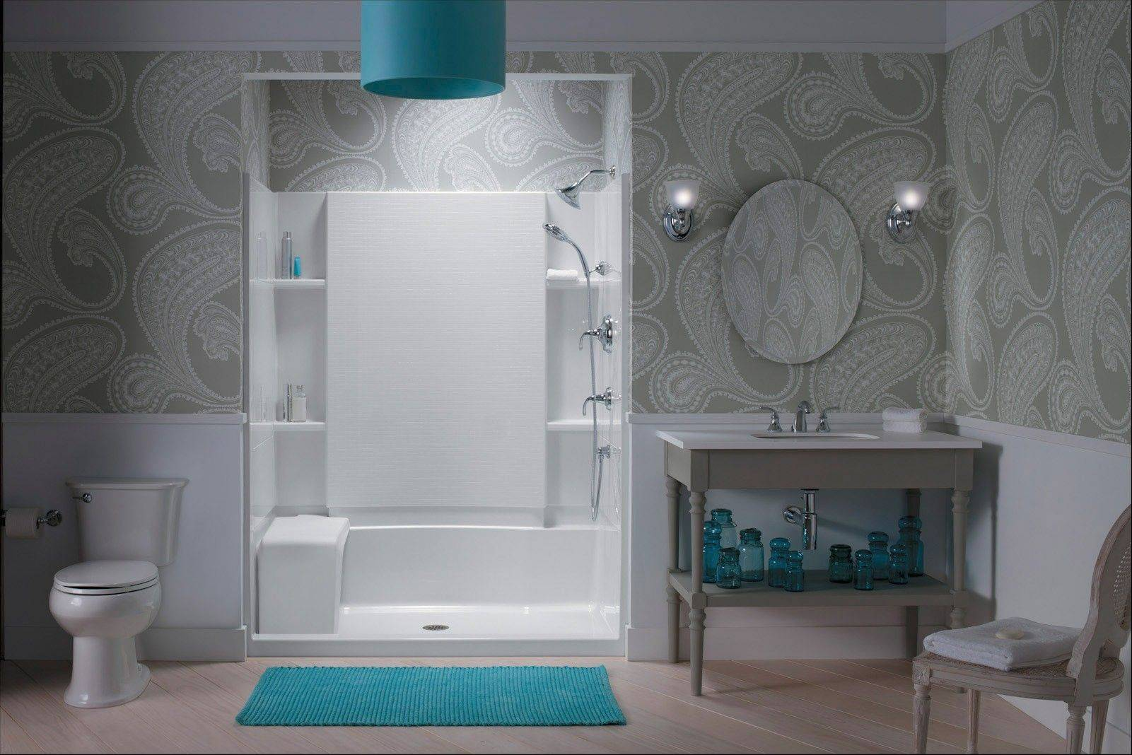 When it comes to replacing tub and shower components, be sure to work with a licensed and insured contractor in your area who can help suggest the best option for your particular bathroom.