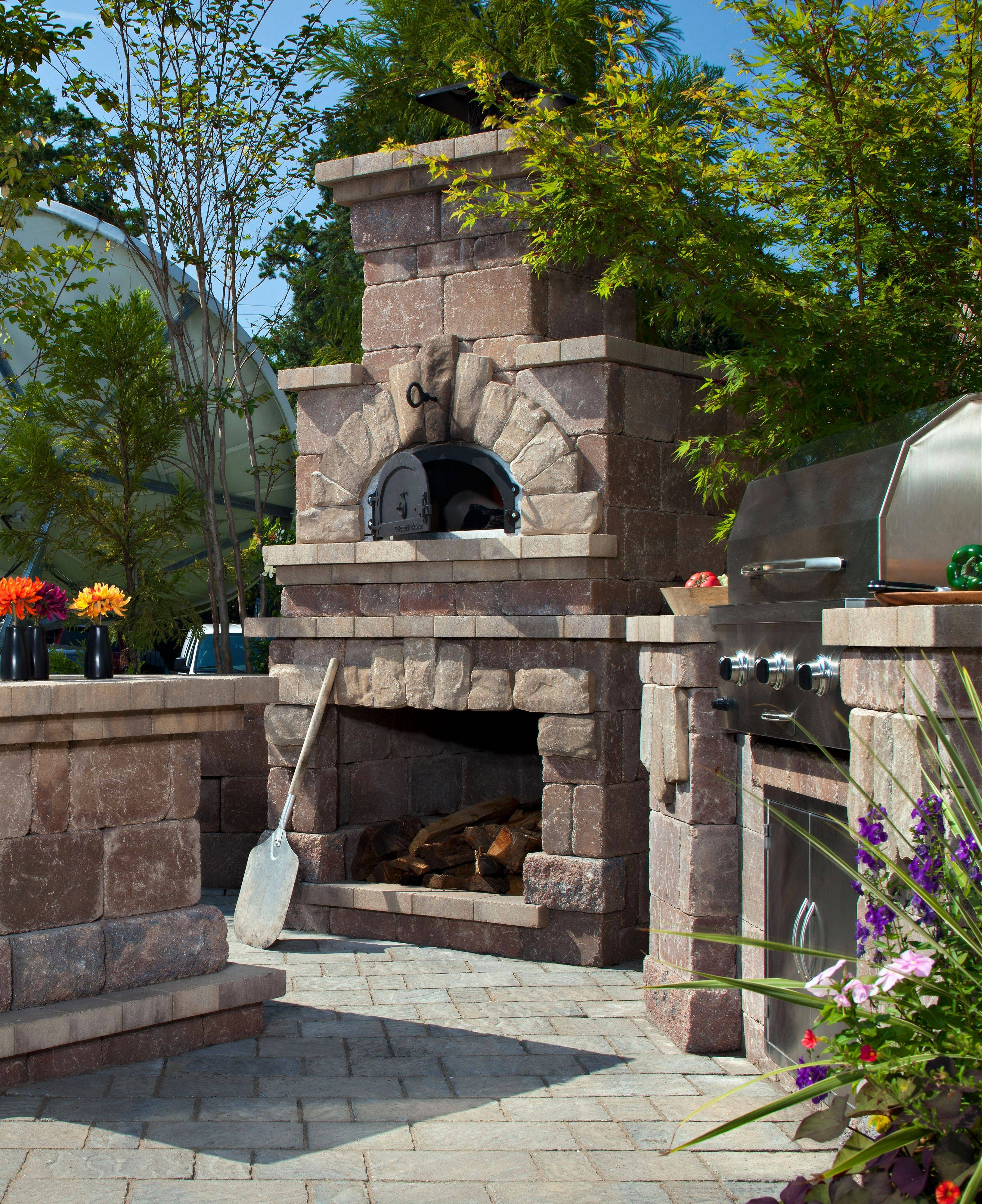 Belgard supplies outdoor brick ovens, popular for cooking turkeys, chickens, bread, briskets and of course, pizza.