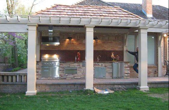 Outdoor kitchens are becoming more popular in the Midwest, says Dan Mayer, owner of Northwest Metalcraft in Arlington Heights.