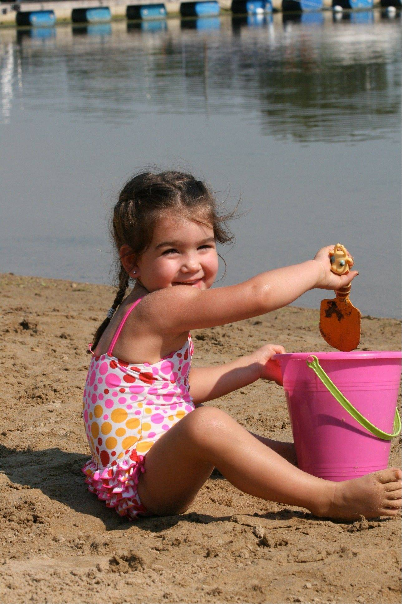 Time in the sand is one of the lures of Bangs Lake Beach in Wauconda.