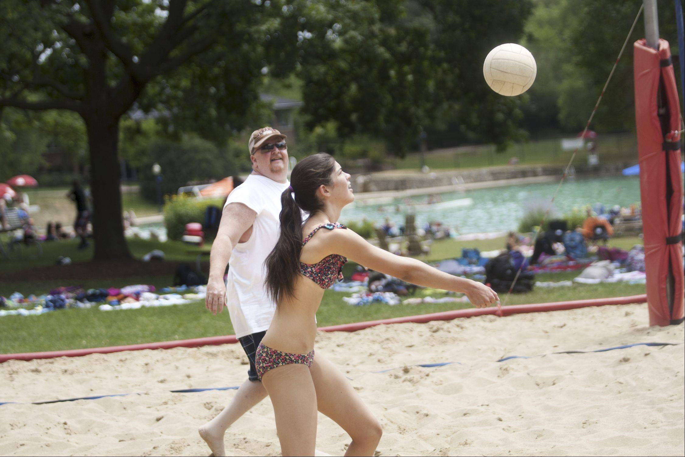 Sand volleyball is just of one of many recreational options available at Naperville's Centennial Beach.