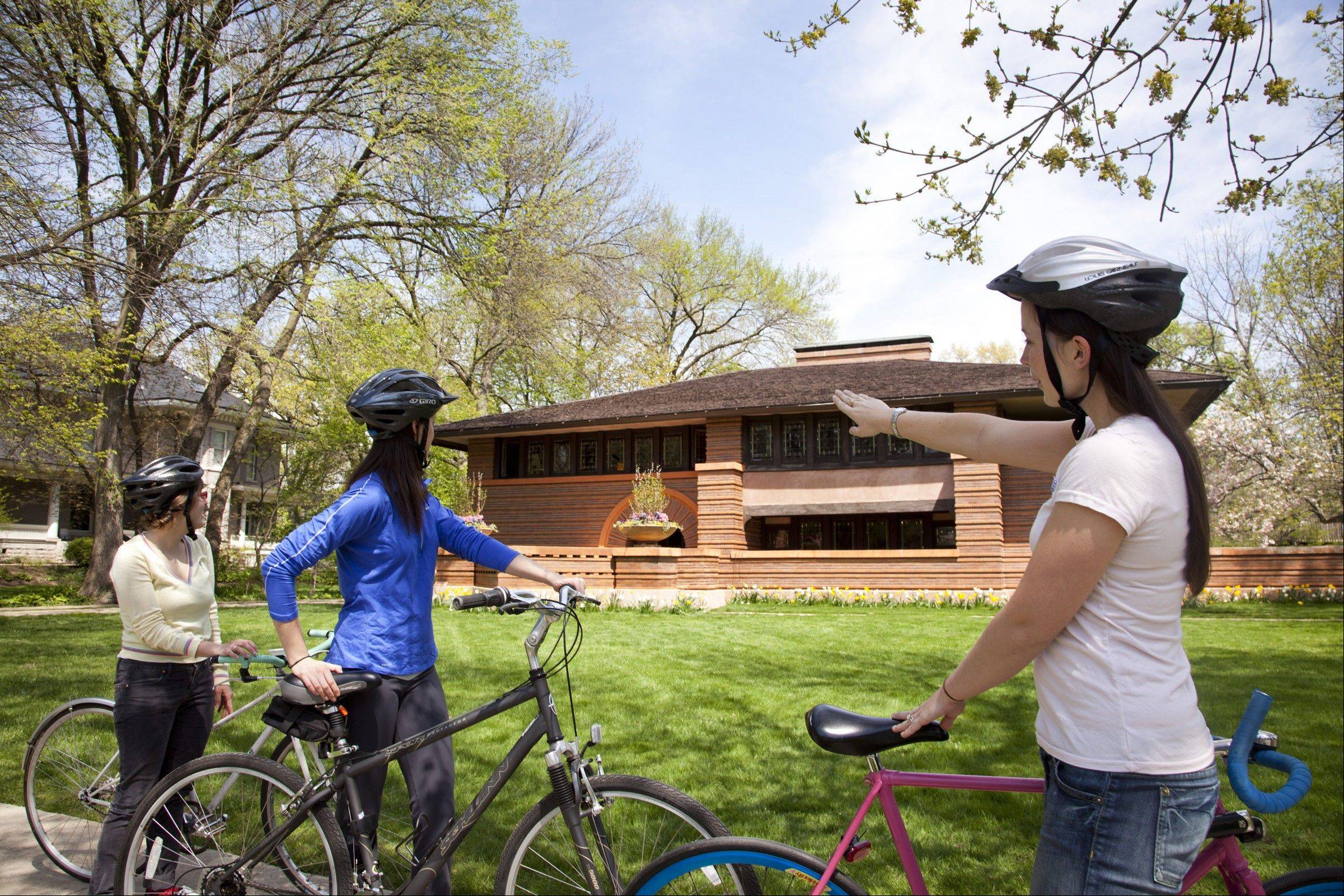 The Pedal Oak Park tour will stop at the Arthur B. Heurtley House in the Frank Lloyd Wright Historic District.