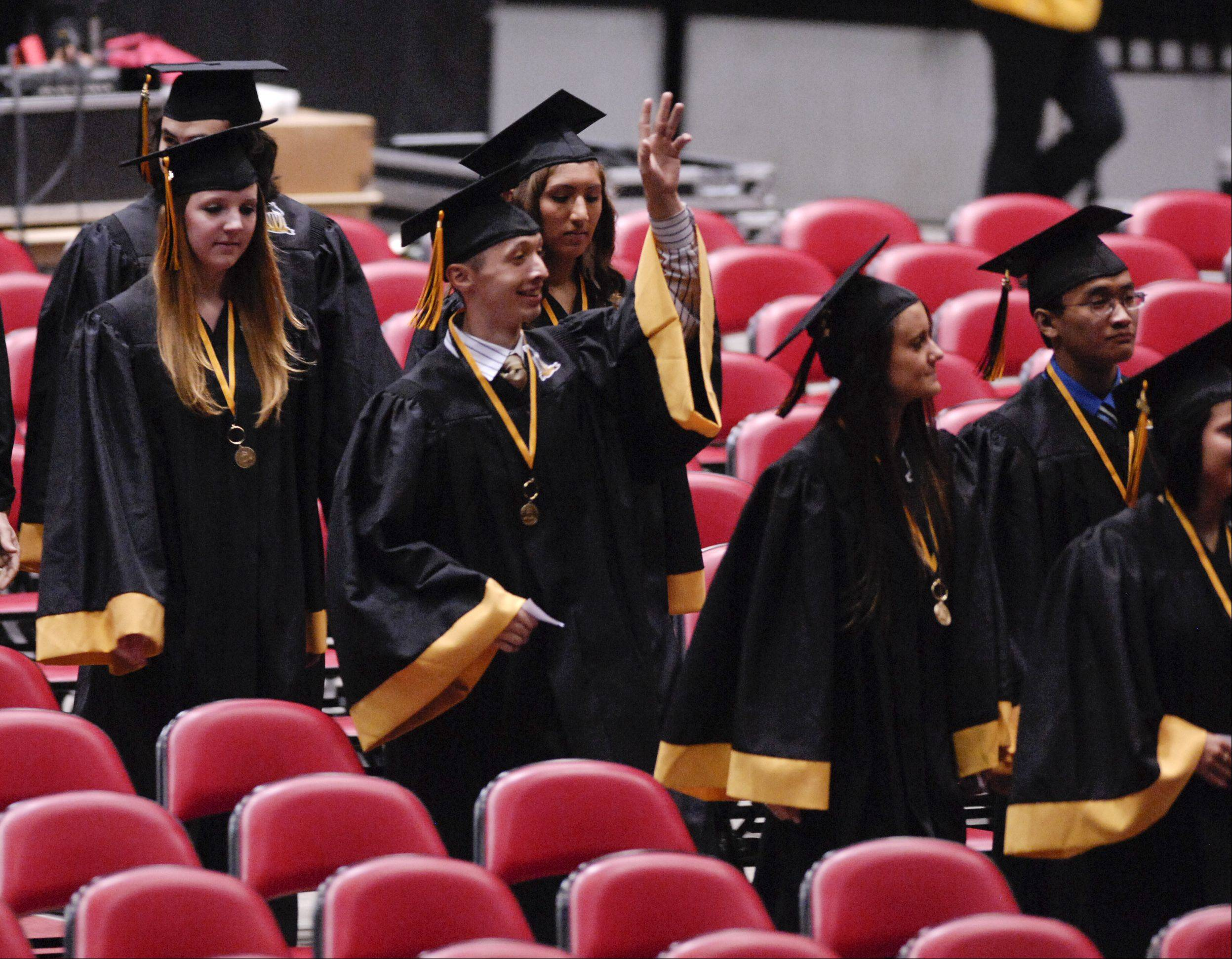 Images from the Metea Valley High School graduation on Sunday, May 26 at the NIU Convocation Center in DeKalb.