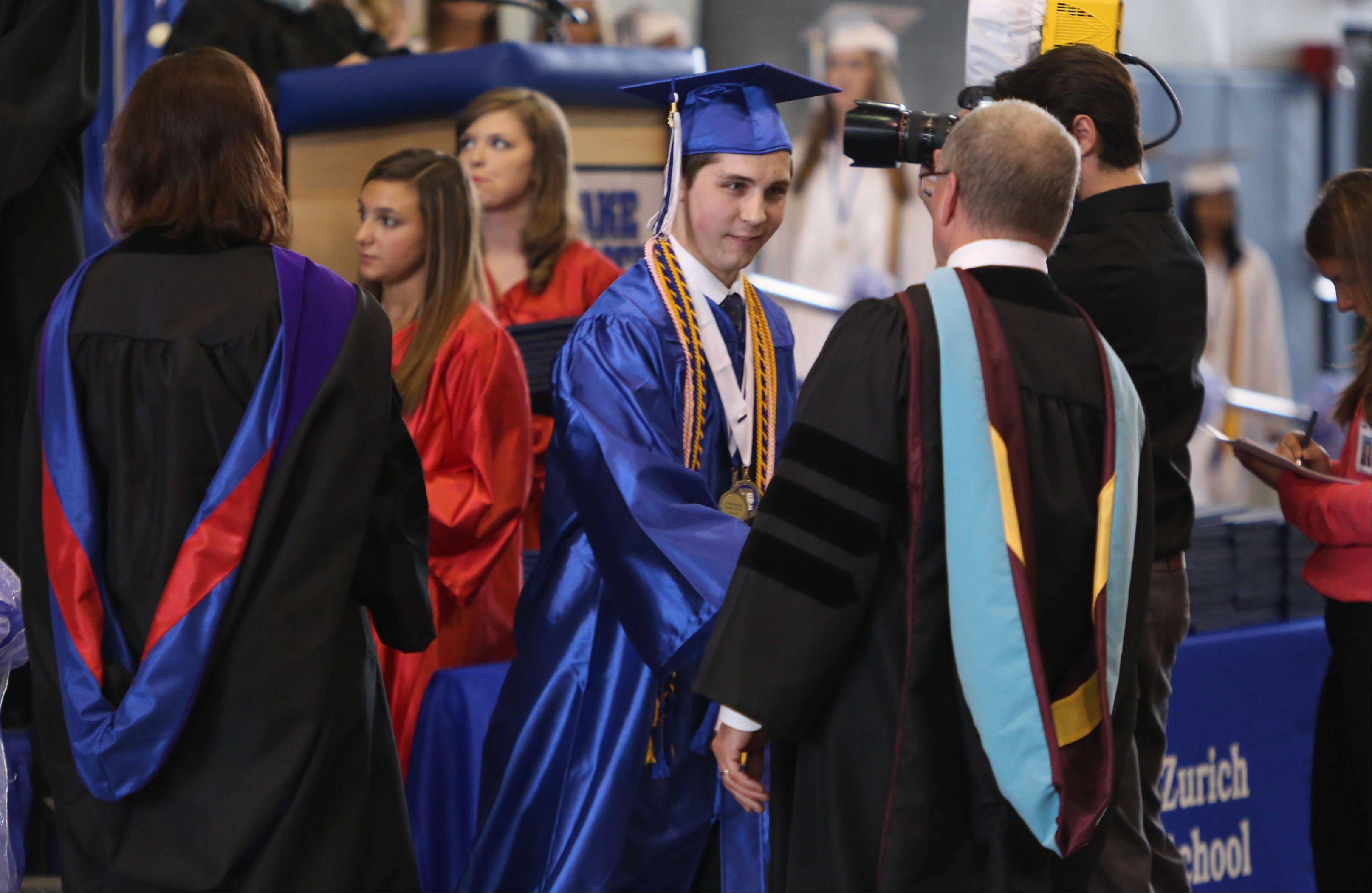 Images from the Lake Zurich High School graduation on Sunday, May 26 in Lake Zurich.
