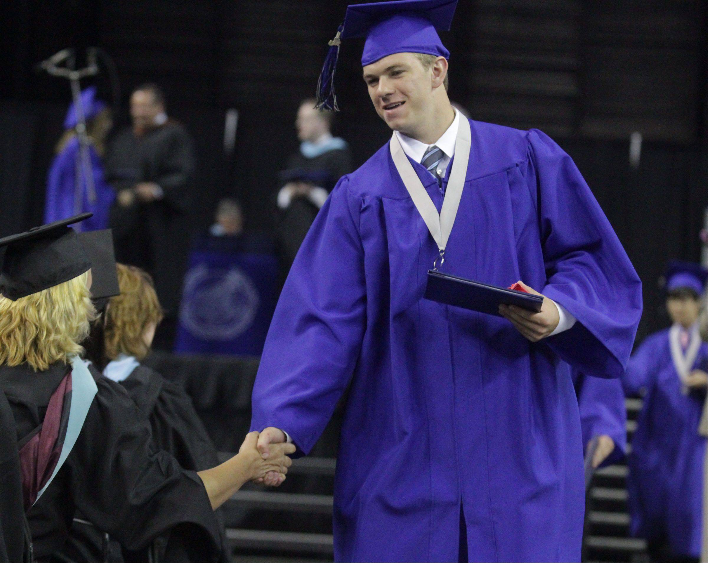 Images from the St Charles North High School commencement ceremony Sunday, May 26, 2013 at the Sears Centre in Hoffman Estates.
