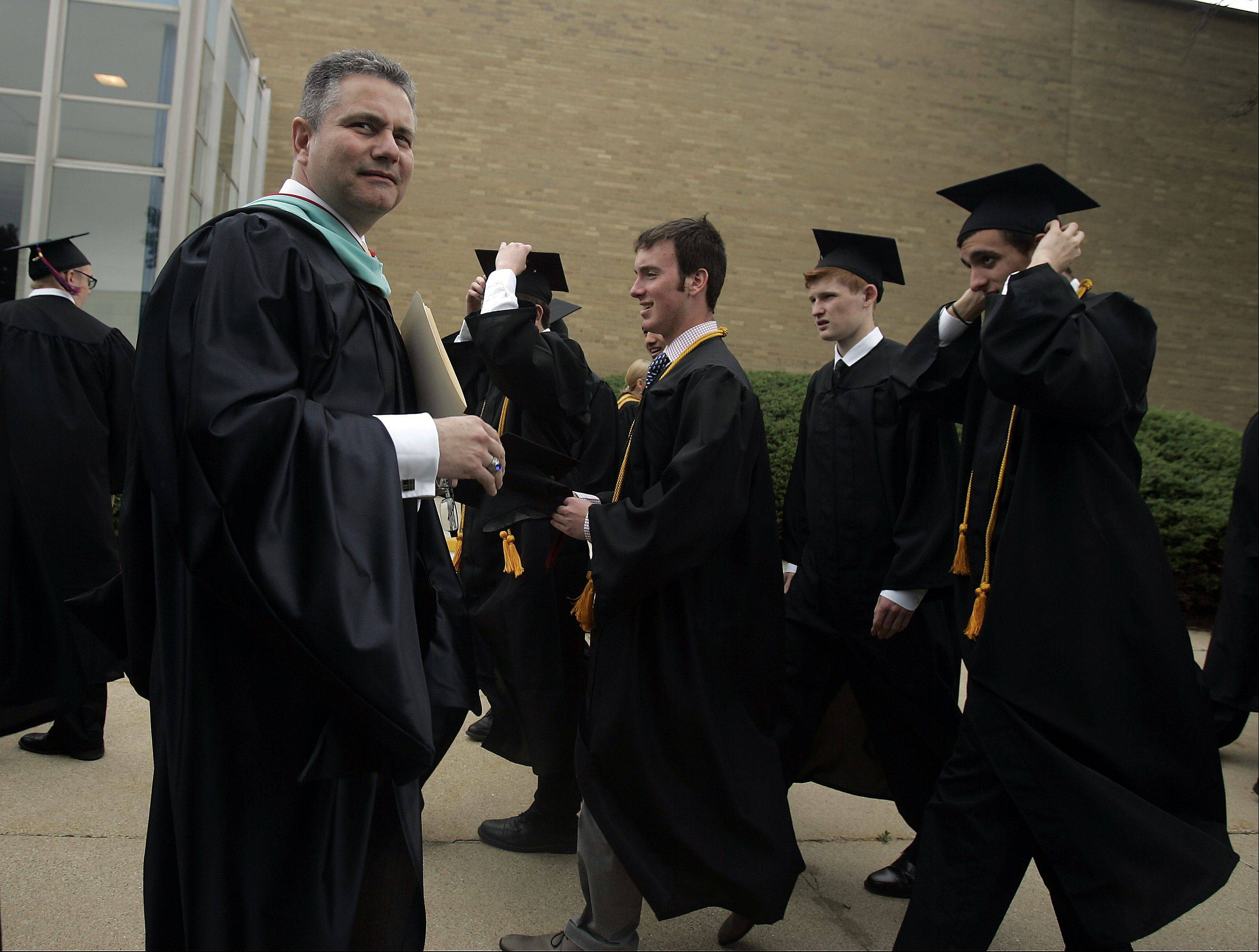 Images from the Marmion Academy commencement ceremony Sunday, May 26, 2013 in Aurora.