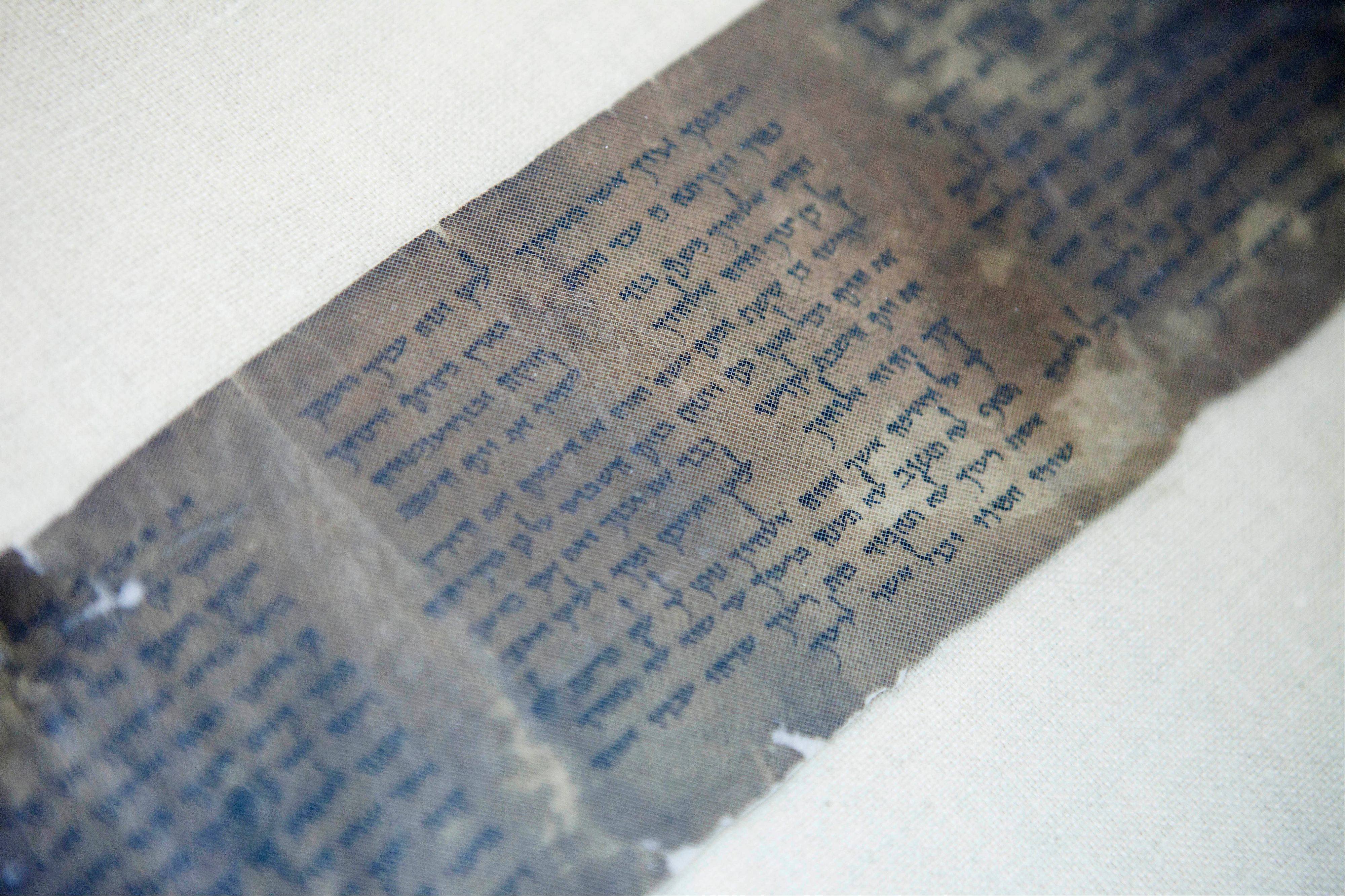 The ten commandments is written on one of the Dead Sea Scrolls in Jerusalem. Nearly 70 years after the discovery of the world's oldest biblical manuscripts, the Palestinian family who originally sold them to scholars and institutions is now quietly marketing the leftovers.
