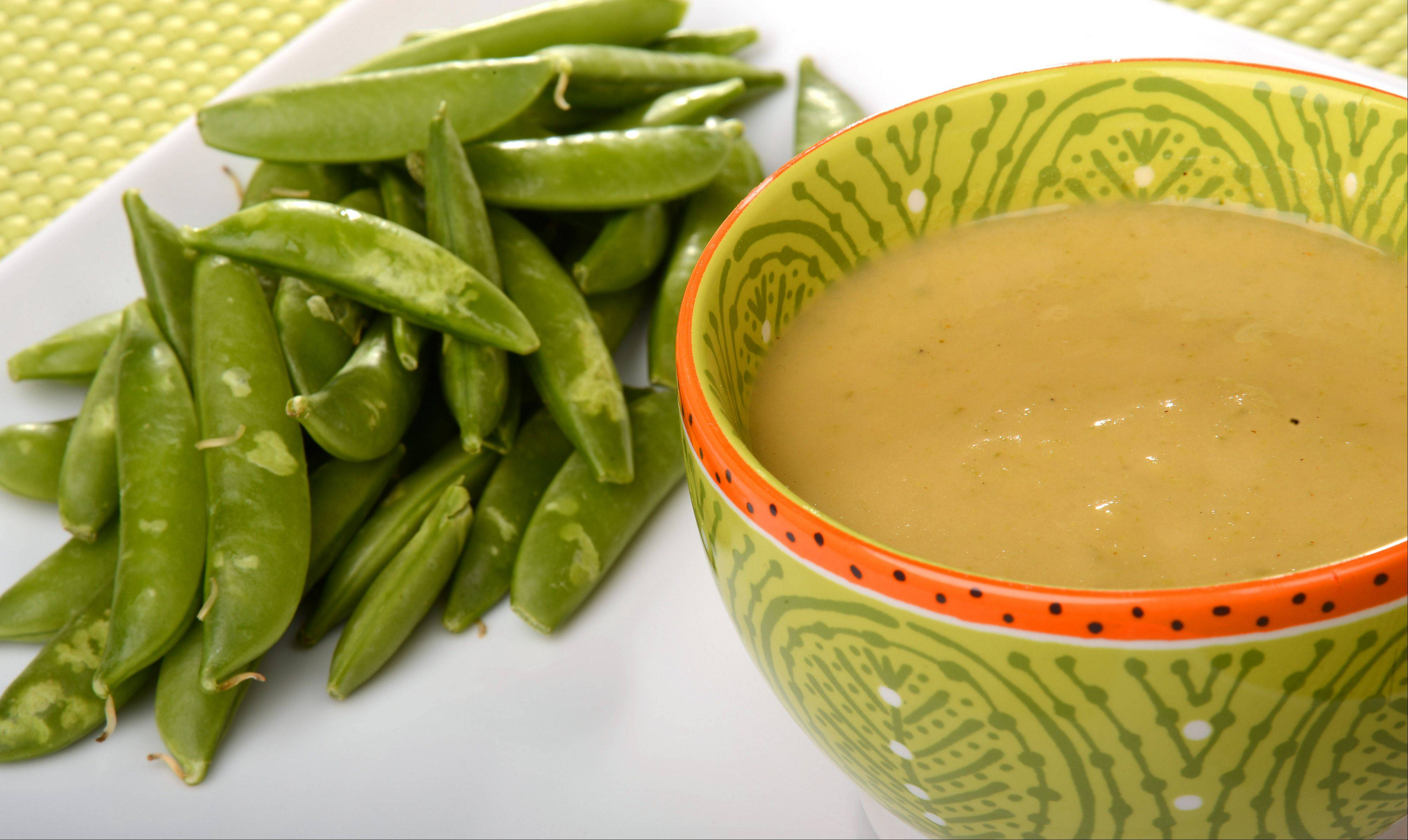 Mark Welsh/mwelsh@dailyherald.com Eileen's offers up a simple Mangetout soup with a taste of the UK.
