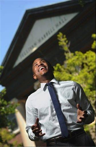 Millsaps College senior Chris Bell on the Jackson, Miss., campus. Bell is excited at not only his upcoming graduation, but that he already has a job lined up with the Mississippi Development Authority. Recent reports show an expected increase in jobs for new college grads. However, those same grads will have to look longer and work harder to land one of those jobs, the same reports indicate.